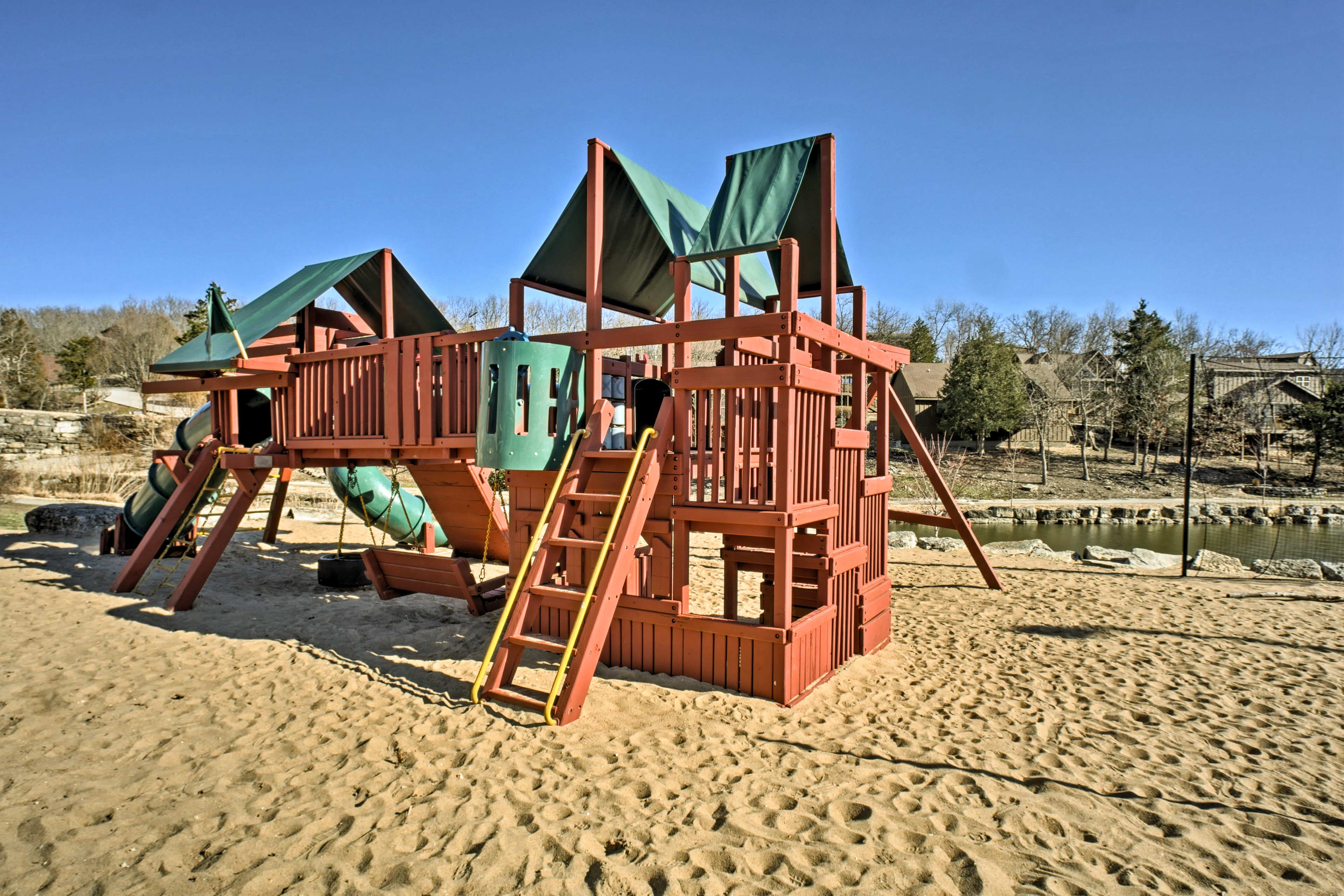 Little ones will delight at the community's playground.