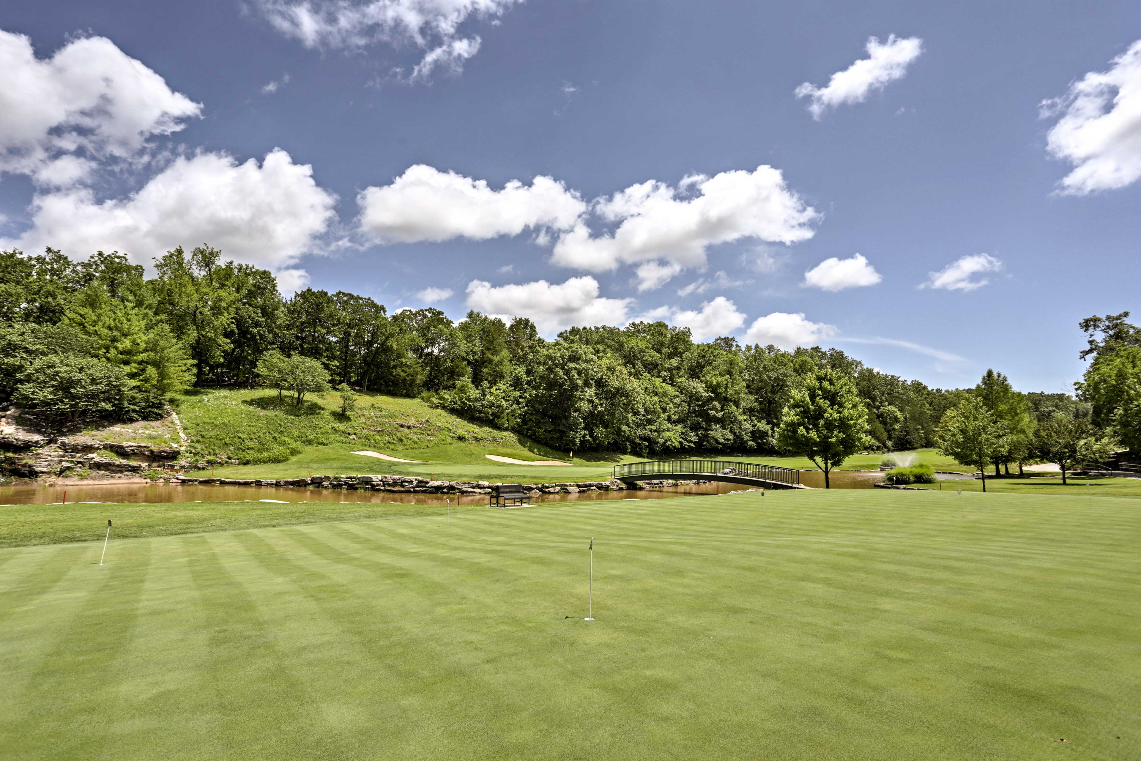 Spend a peaceful morning on the golf course.