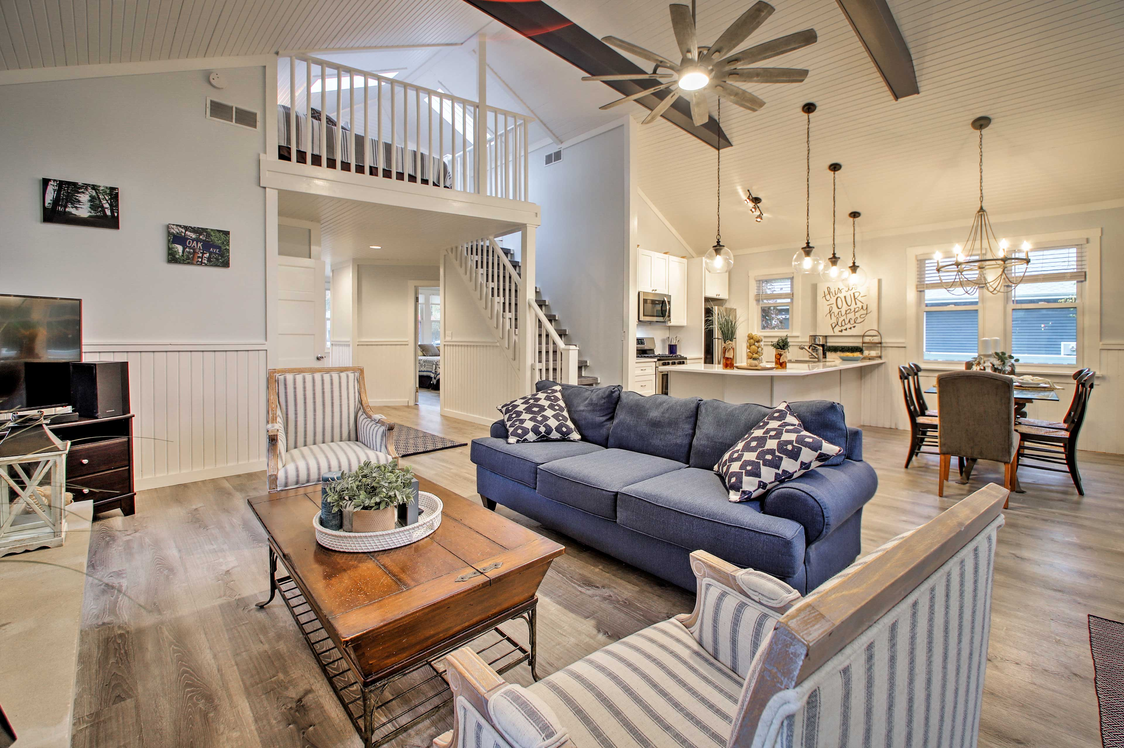 The open layout makes this 1,300-square-foot home seem super spacious.
