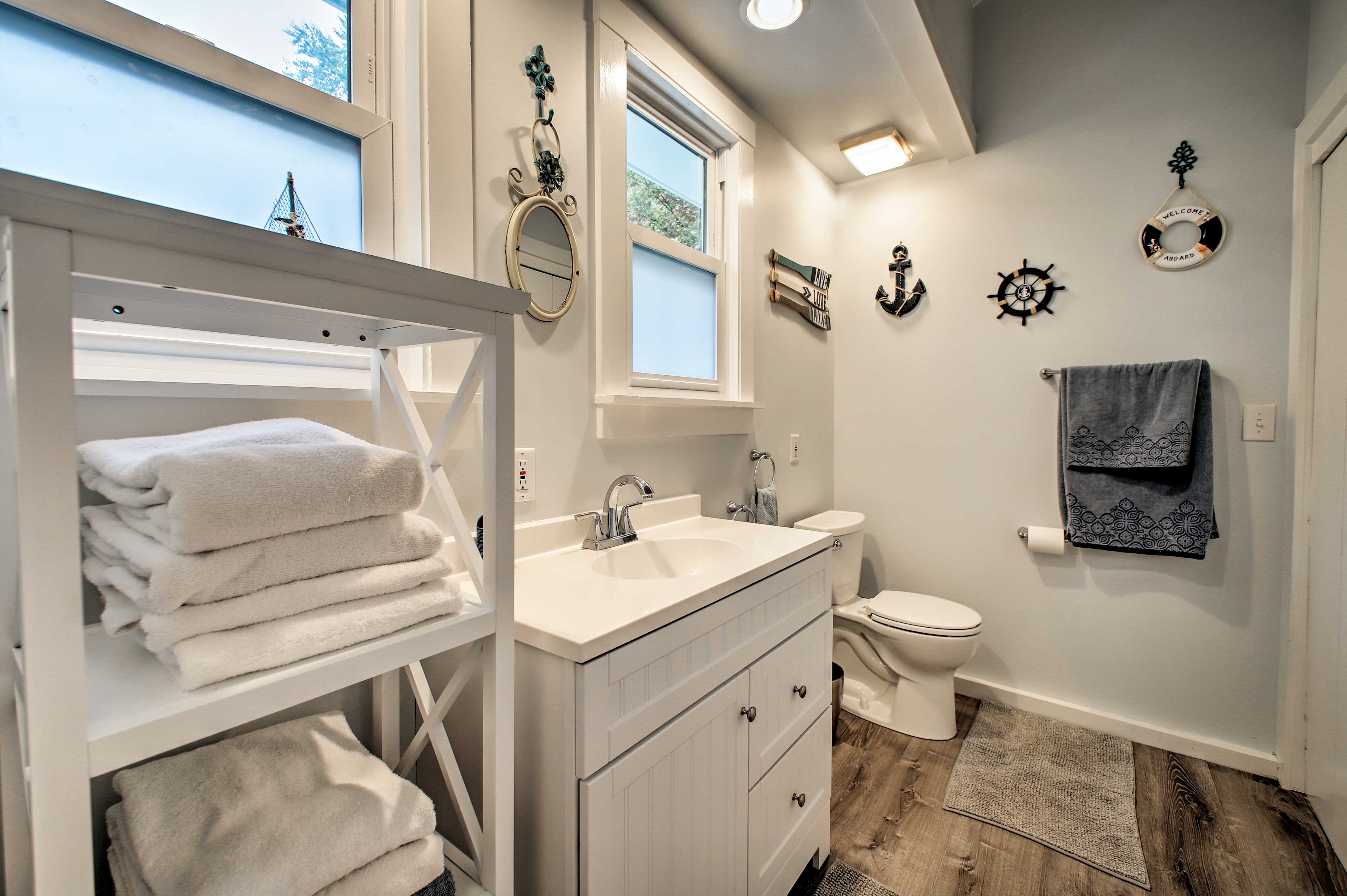 This en-suite bath is right off the master.