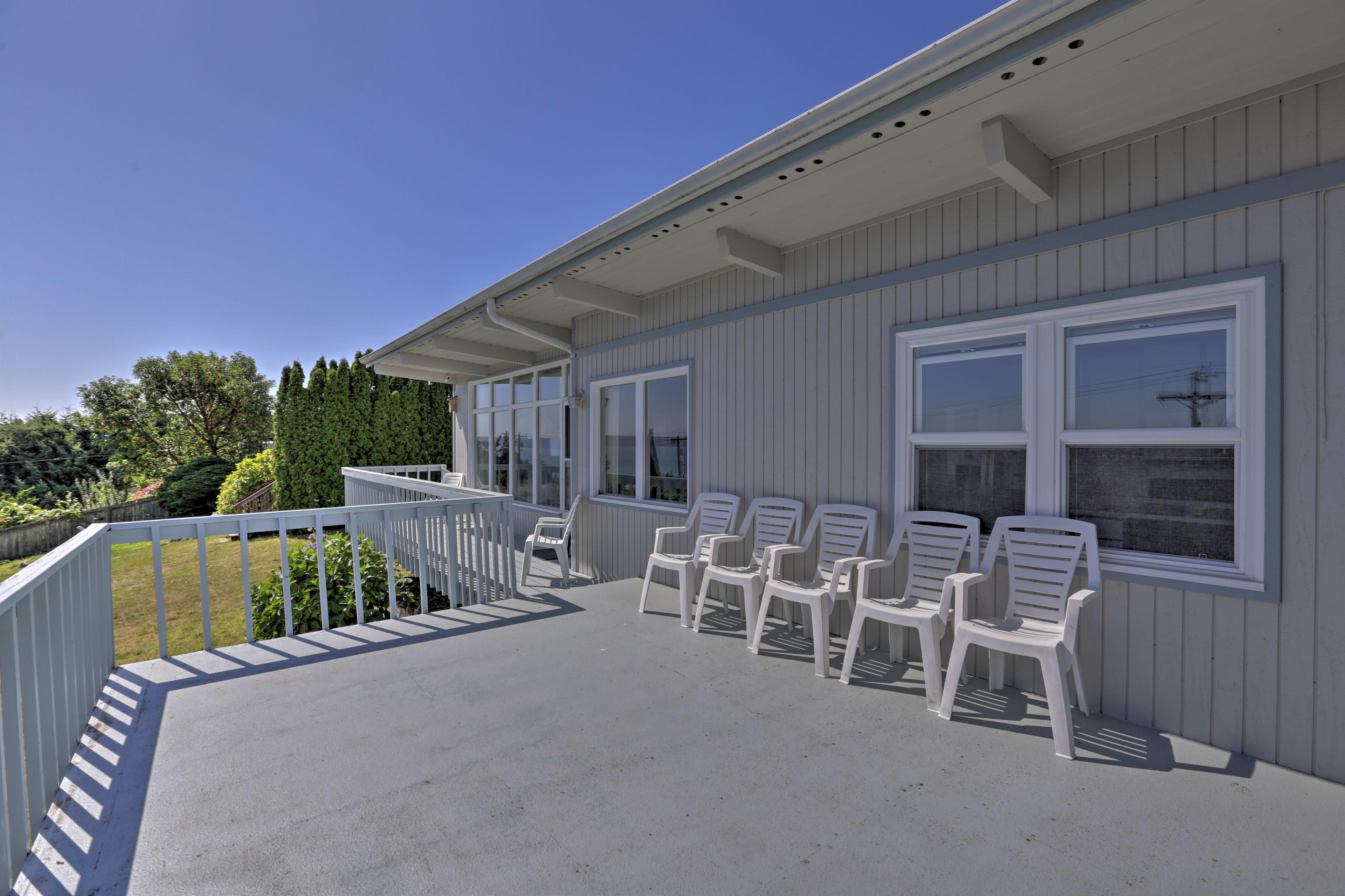 Enjoy some summer sun on the deck.