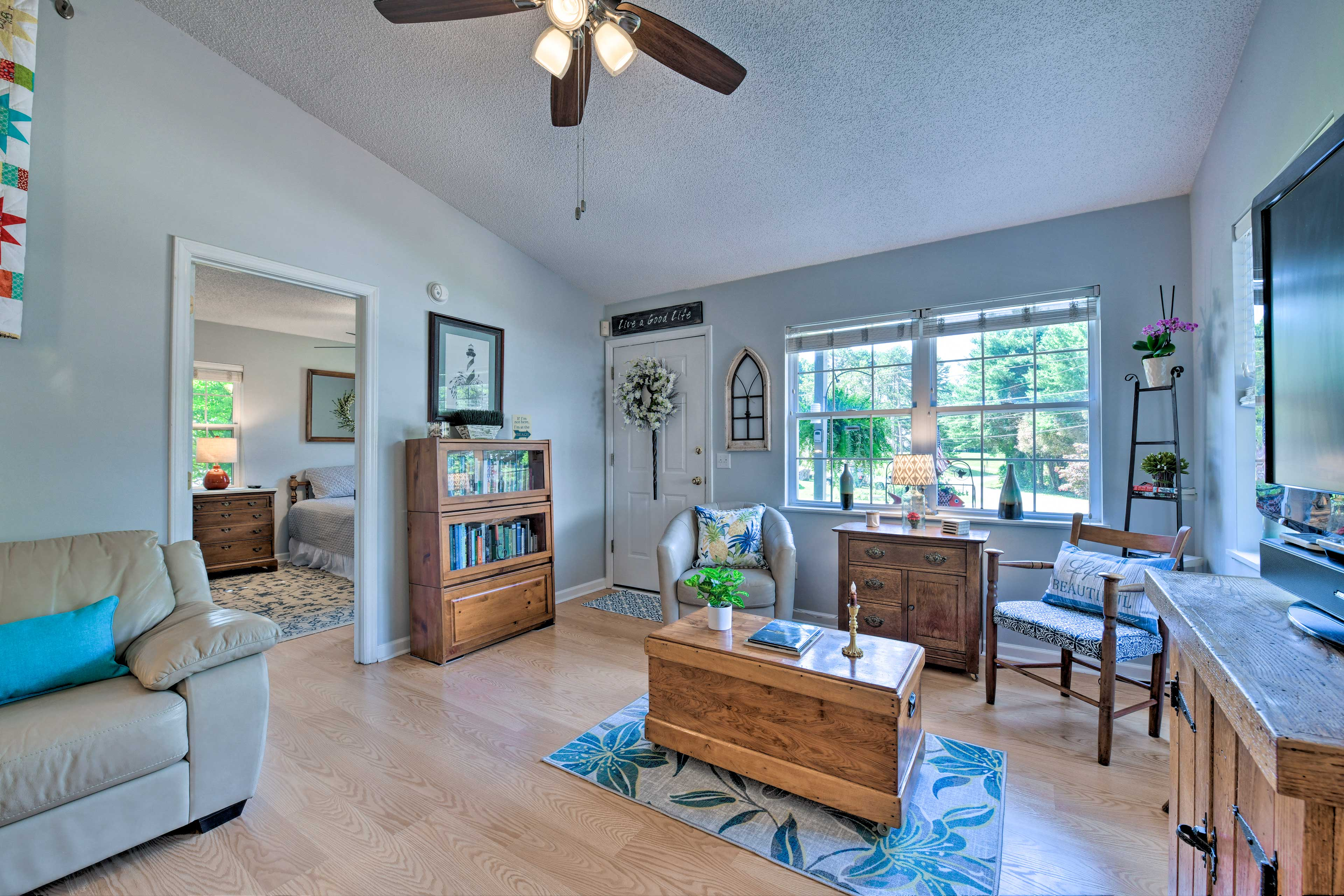 You'll feel right at home in this vacation rental's light and airy interior.