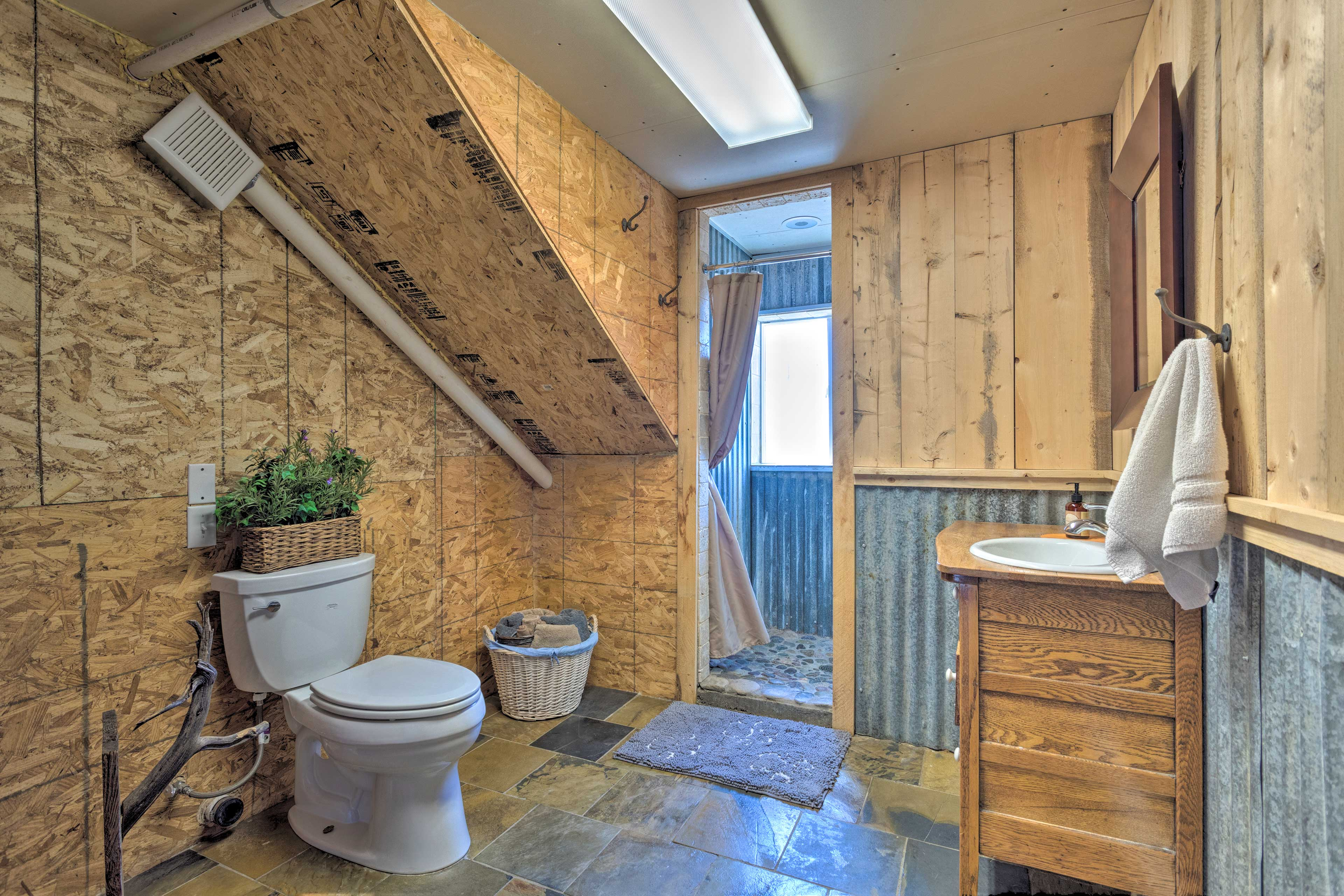Start your morning off in the master bath.