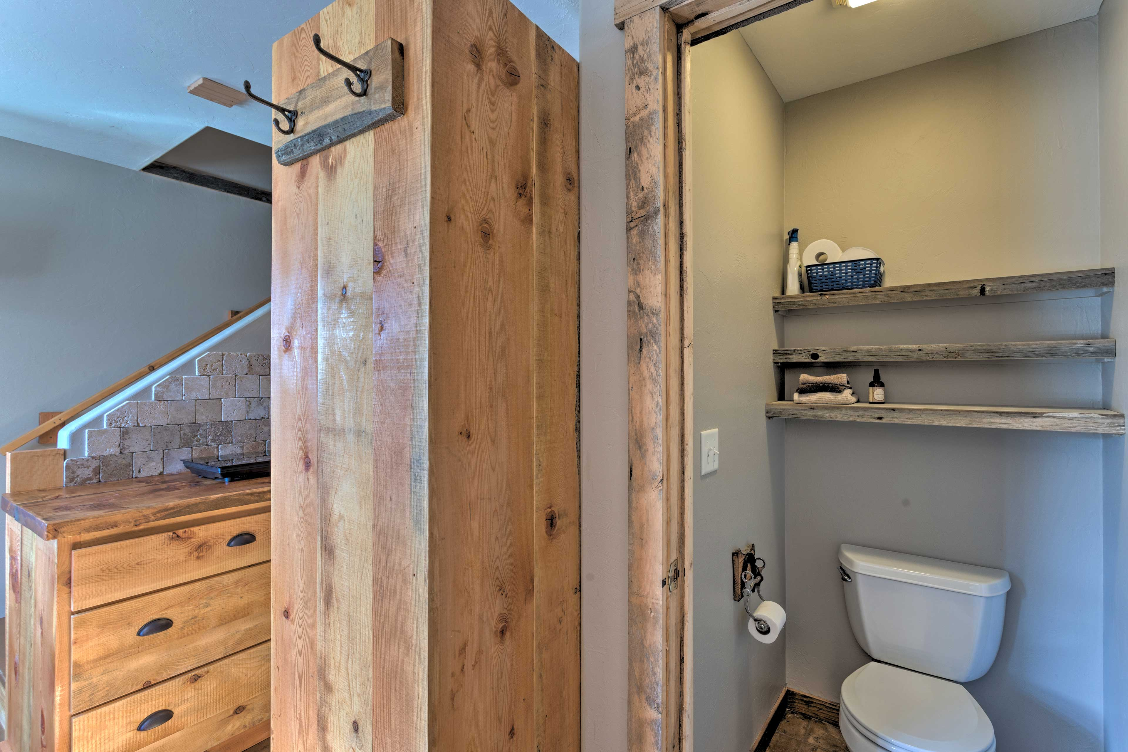 A half-bath is located just off the kitchen.