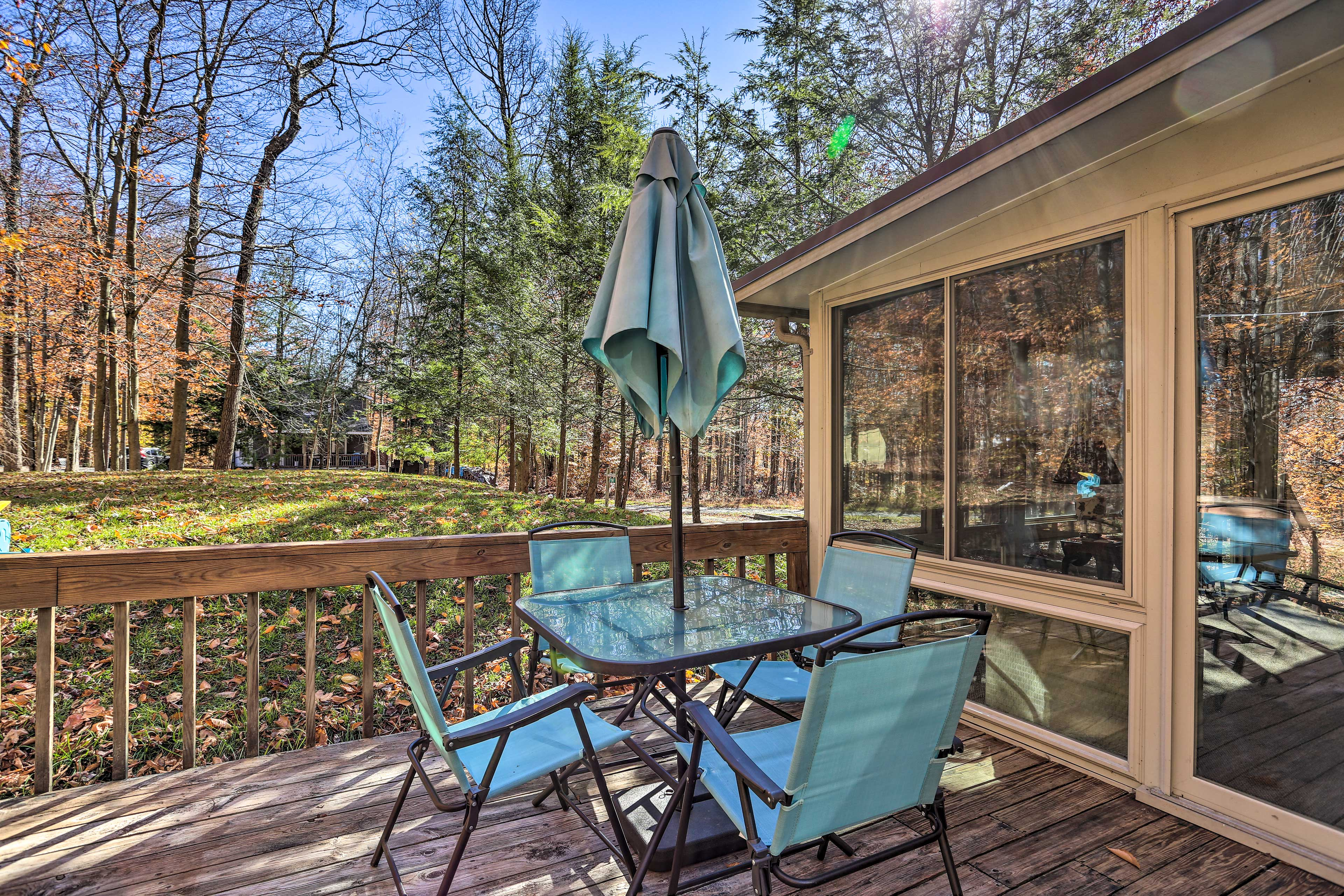 This vacation rental promises plenty of relaxation.