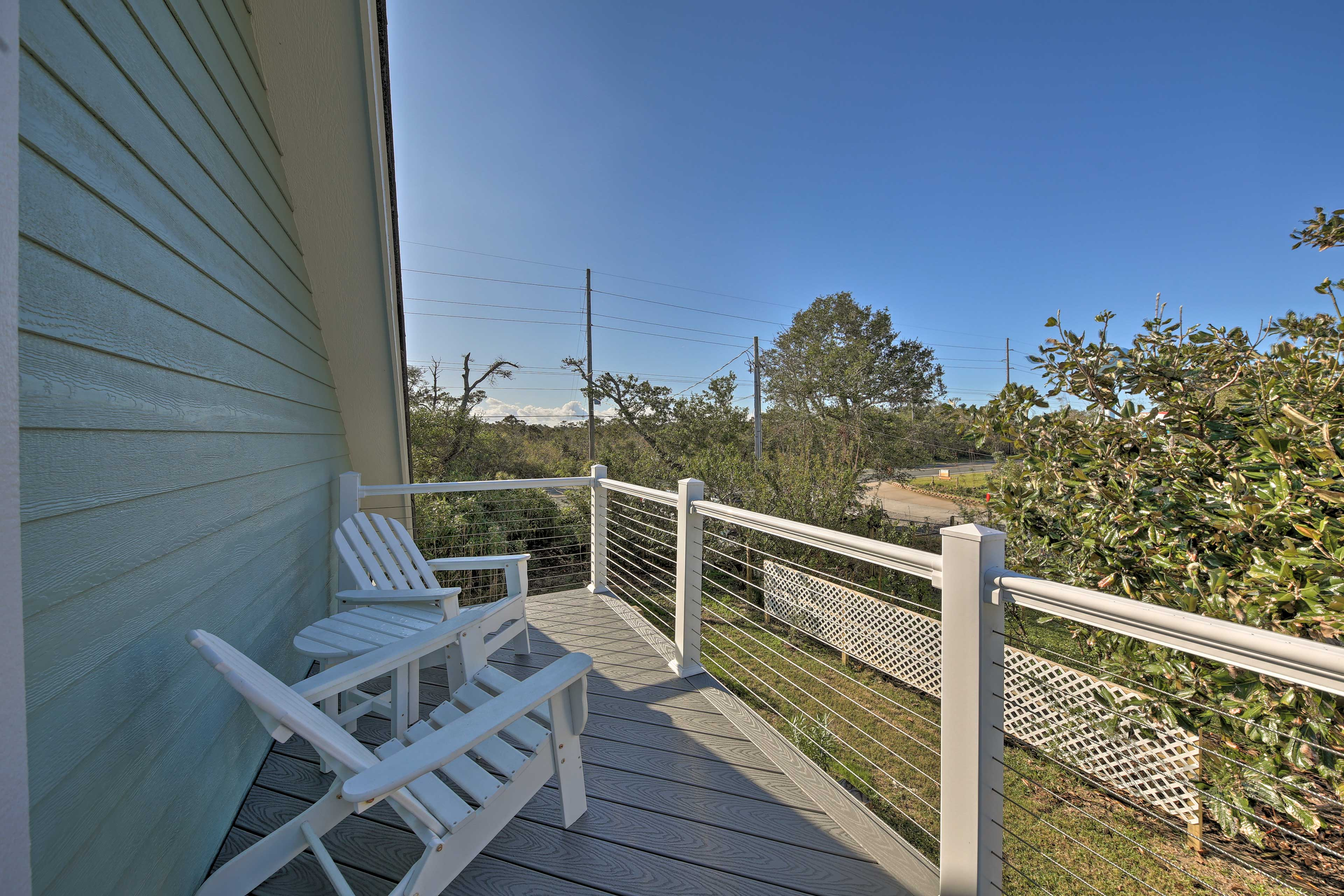 Bask in the fresh seaside air on the private balcony.