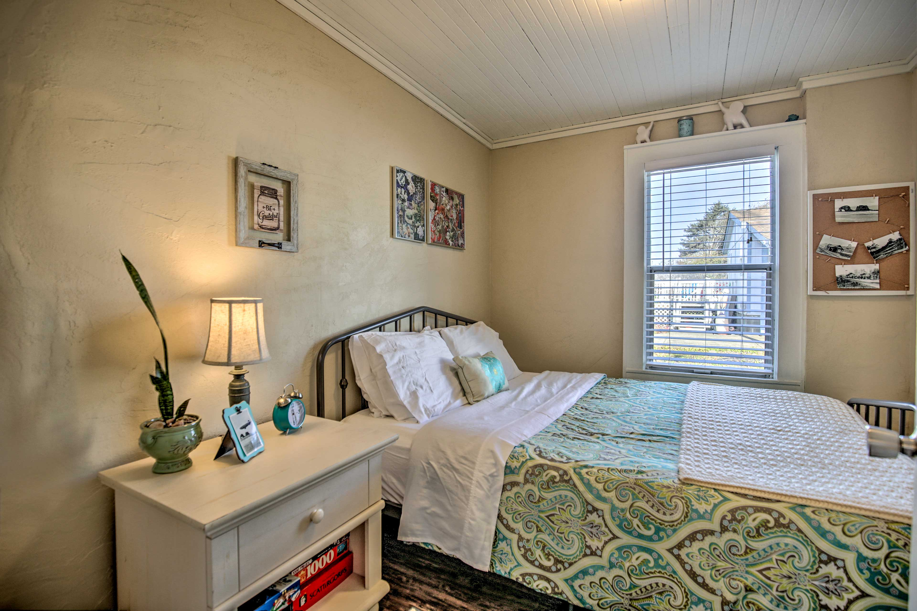 Make your way into the master bedroom.