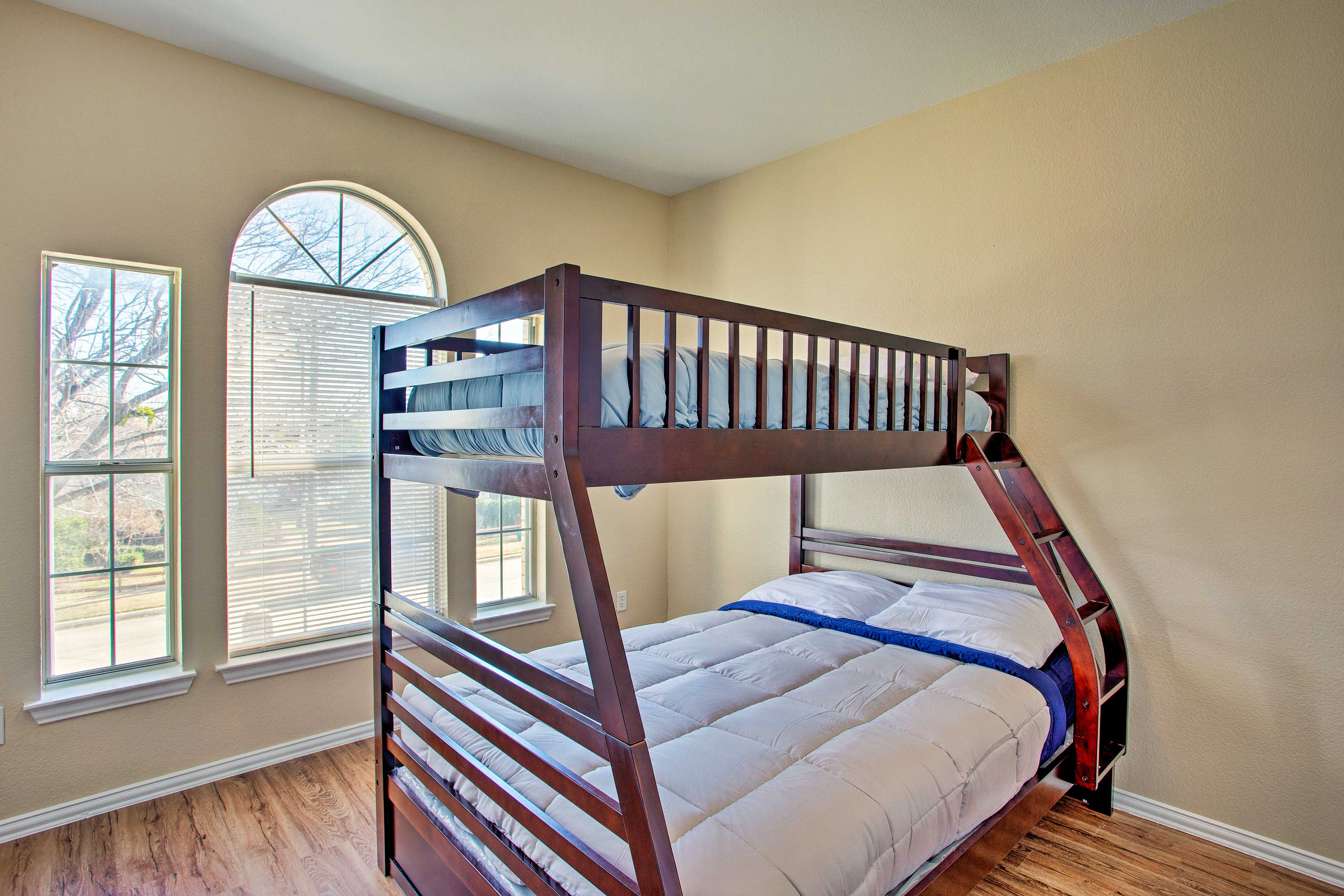 Bedroom 3 comfortably sleeps 3 in the full/twin bunk bed.
