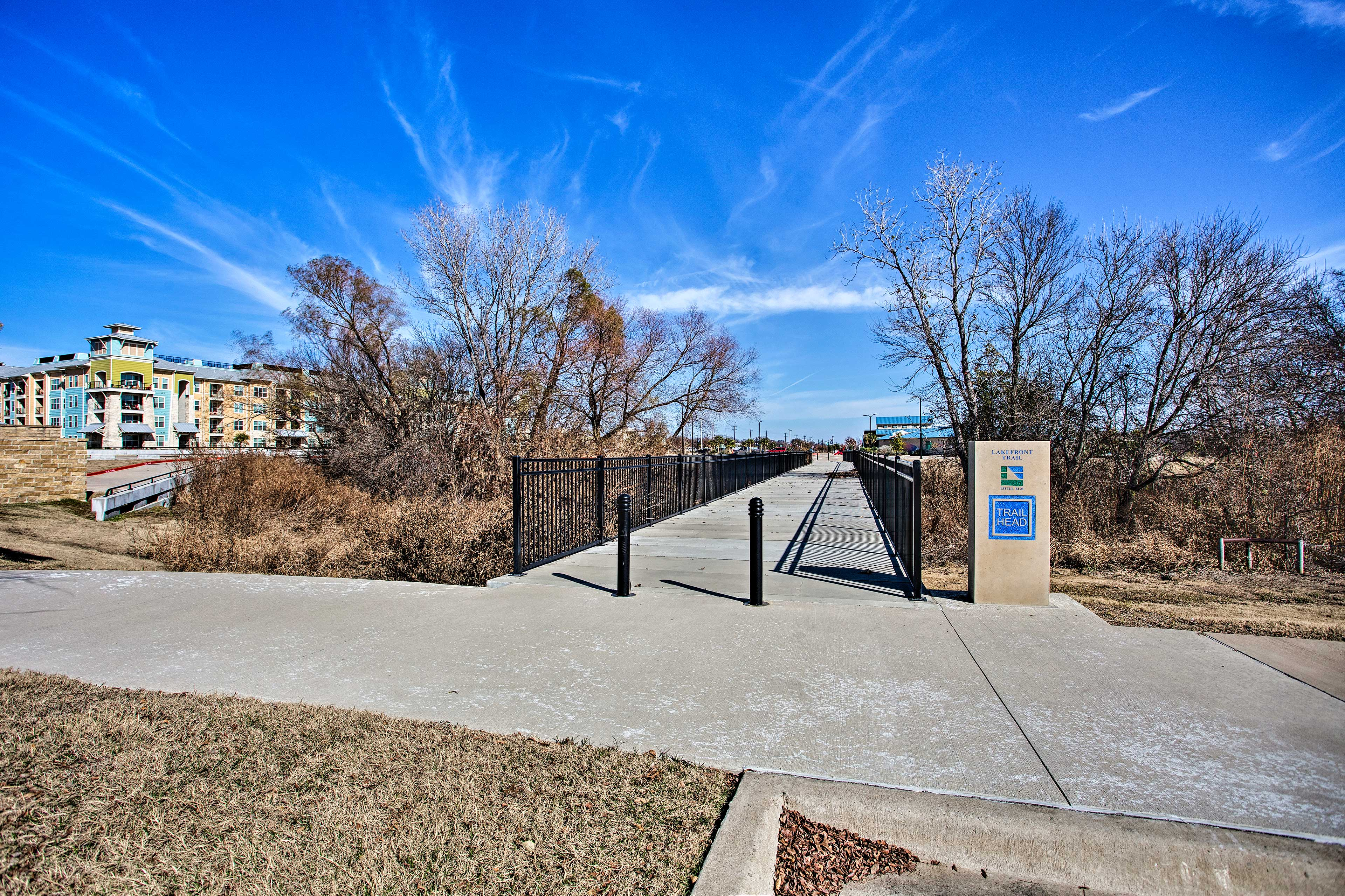 There are plenty of hiking and biking trails nearby this Little Elm home.