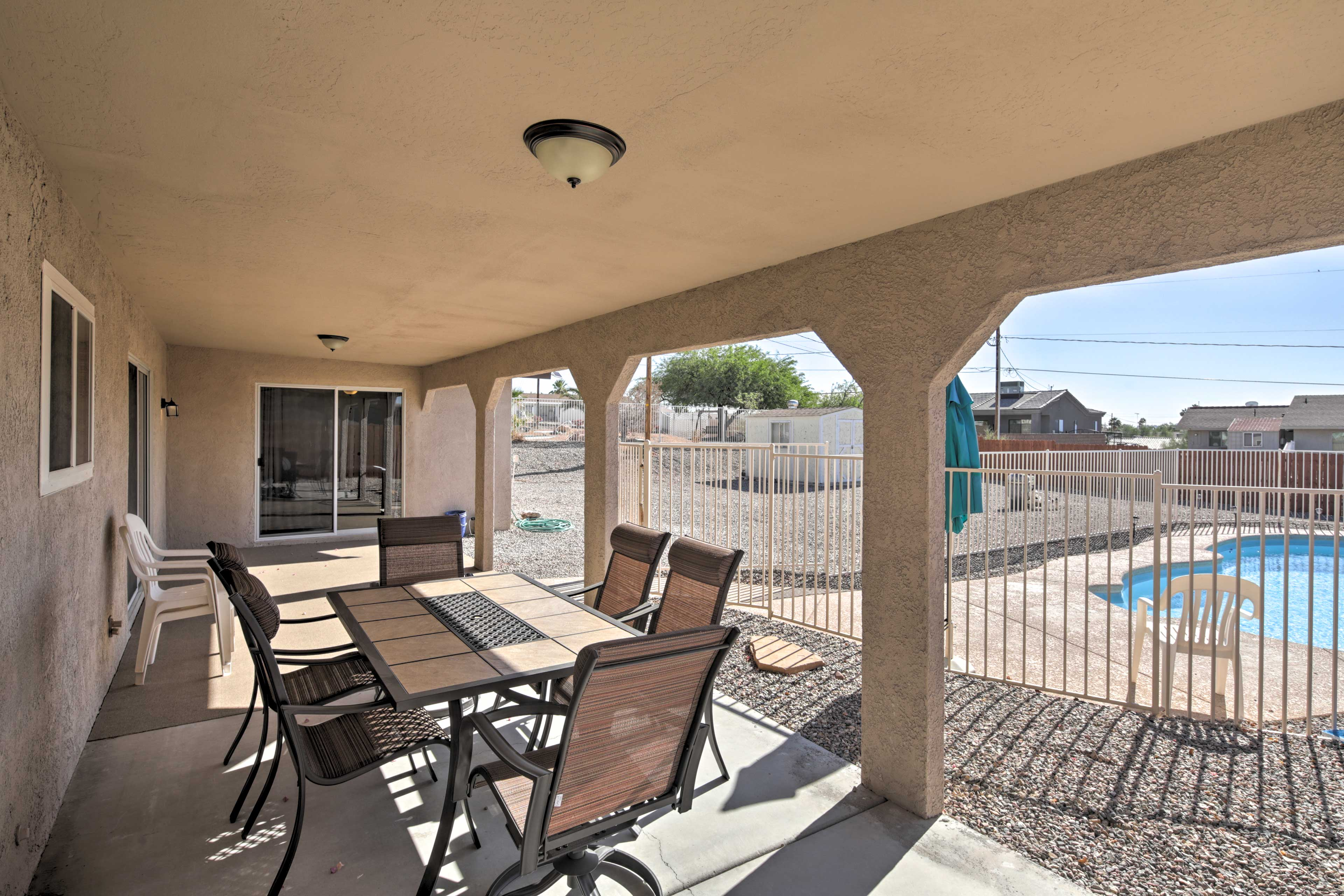 With 3 bedrooms and 2 bathrooms, this home has space for 9 guests.