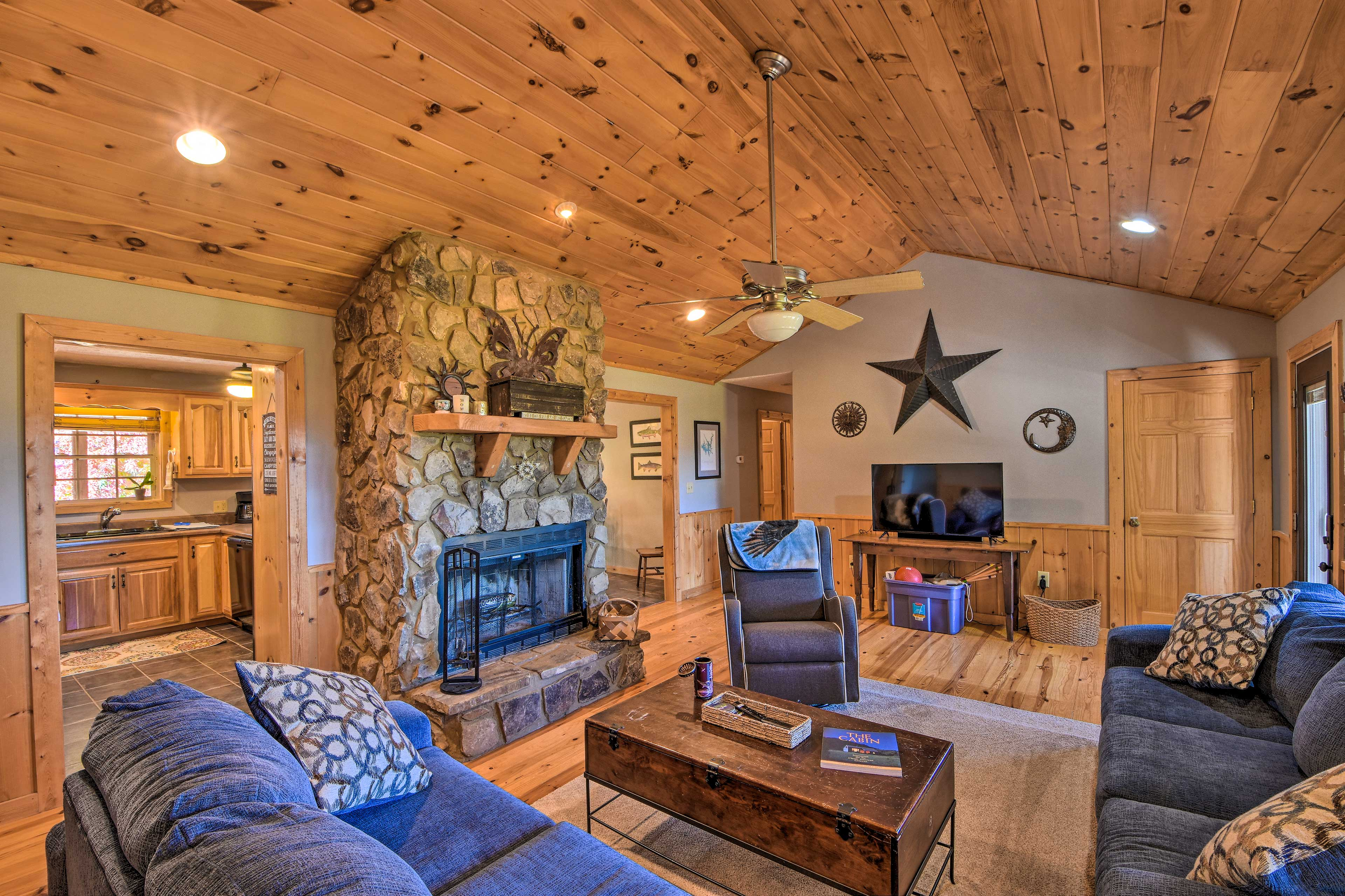 Cozy up inside this 3-bedroom, 2-bathroom vacation rental after your adventures.