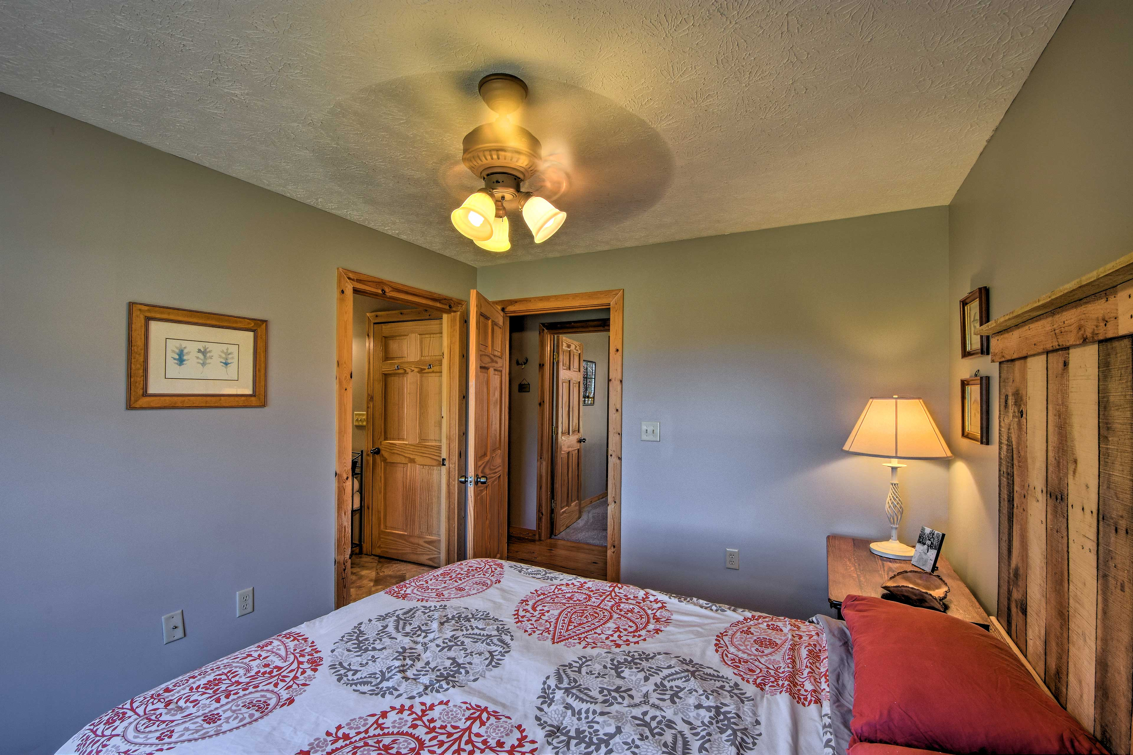 The third bedroom also offers a queen bed.