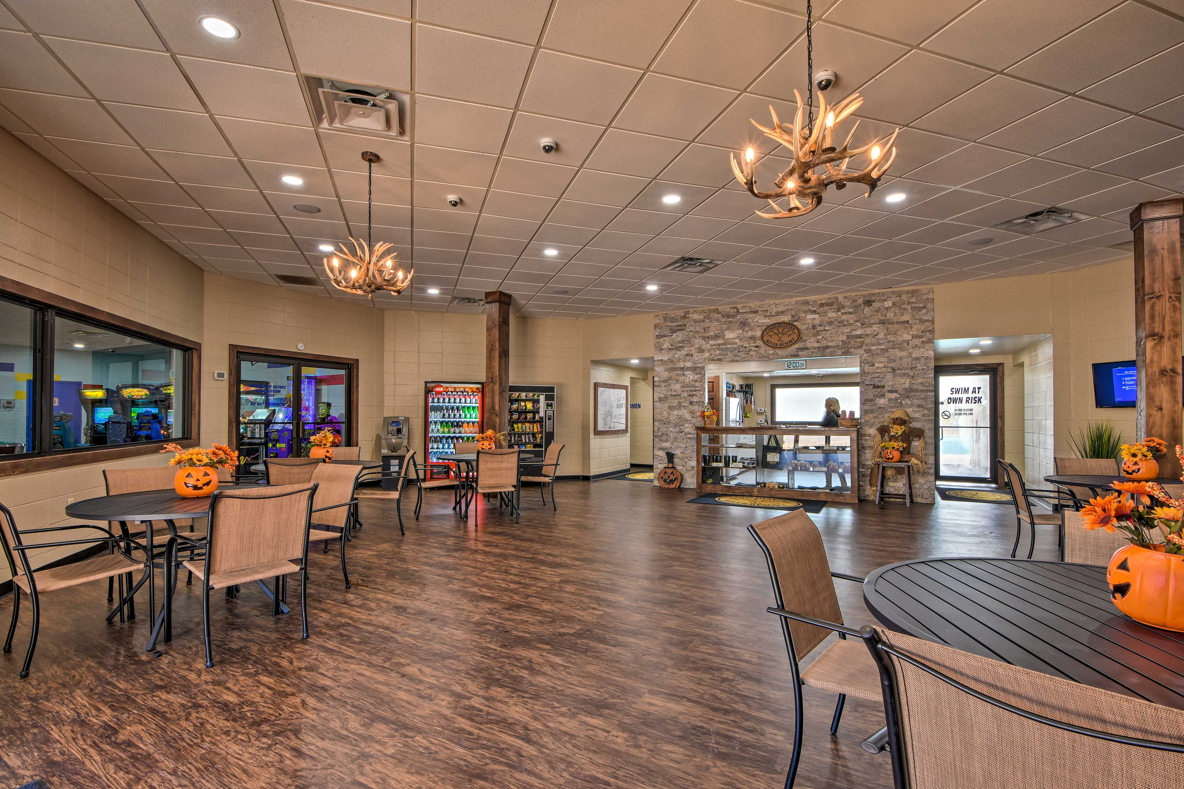 Mingle with residents and visitors in this indoor space.