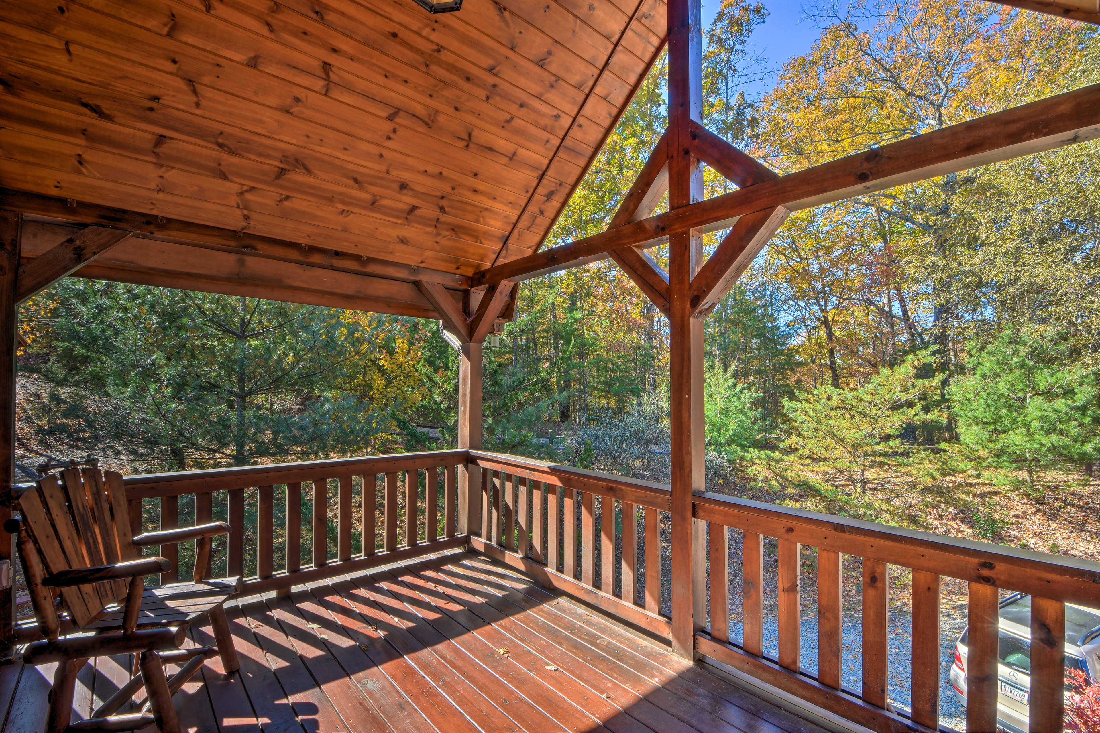 Sip your morning coffee out on the master bedroom's private deck.
