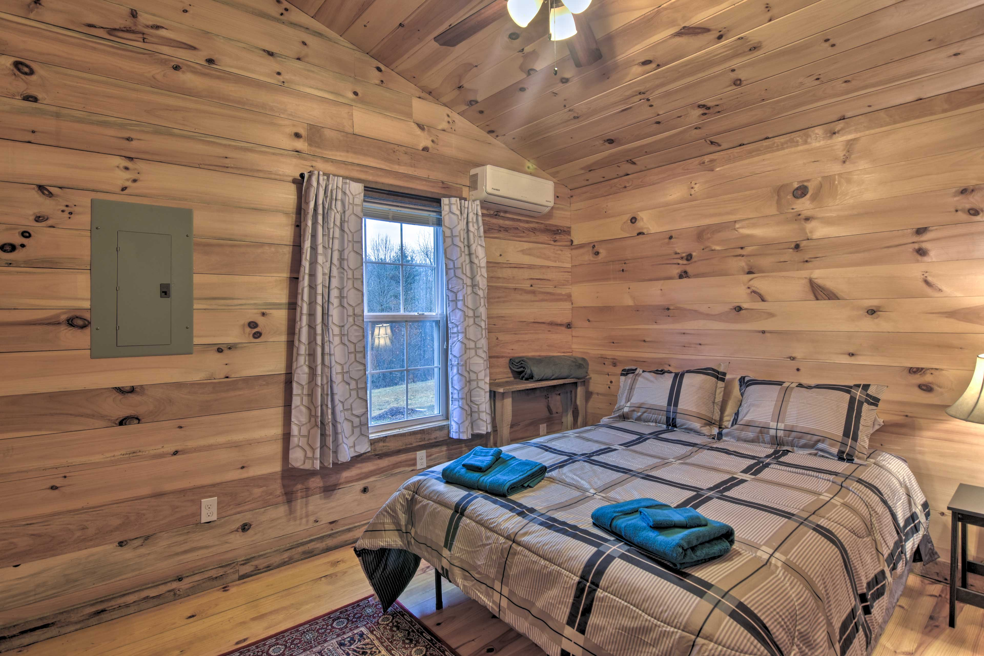 Two guests can claim the first bedroom.