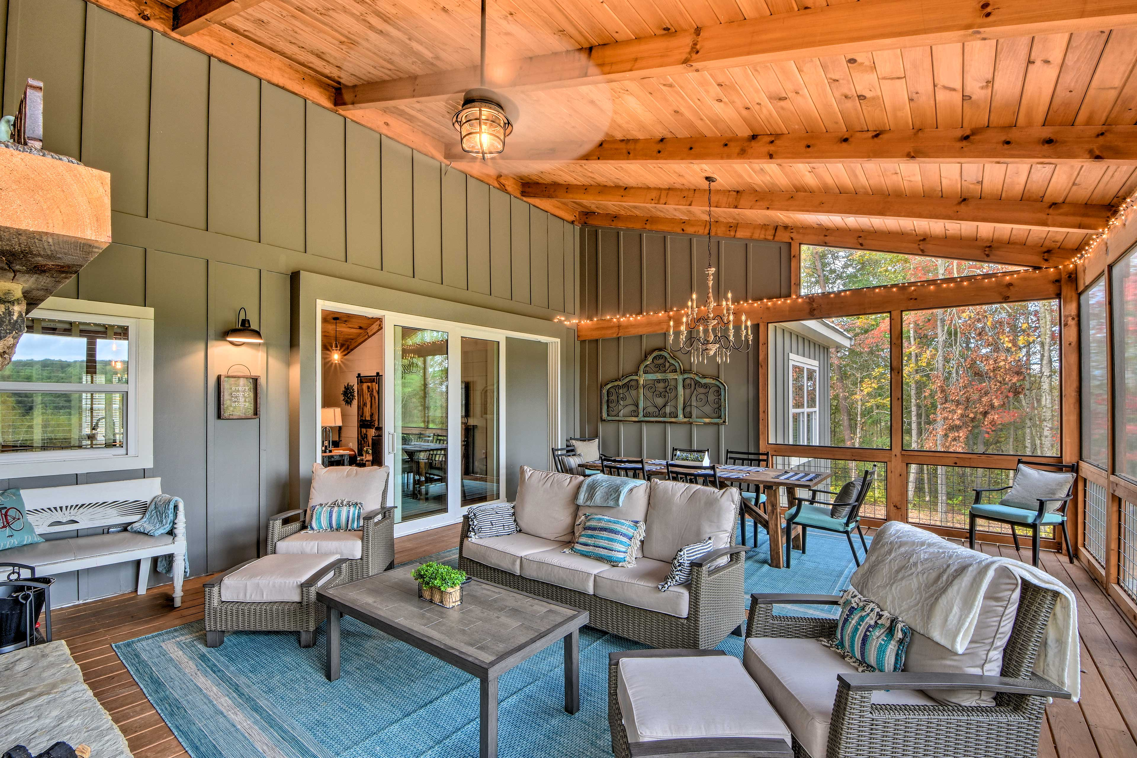 You might want to spend all of your time on the porch!