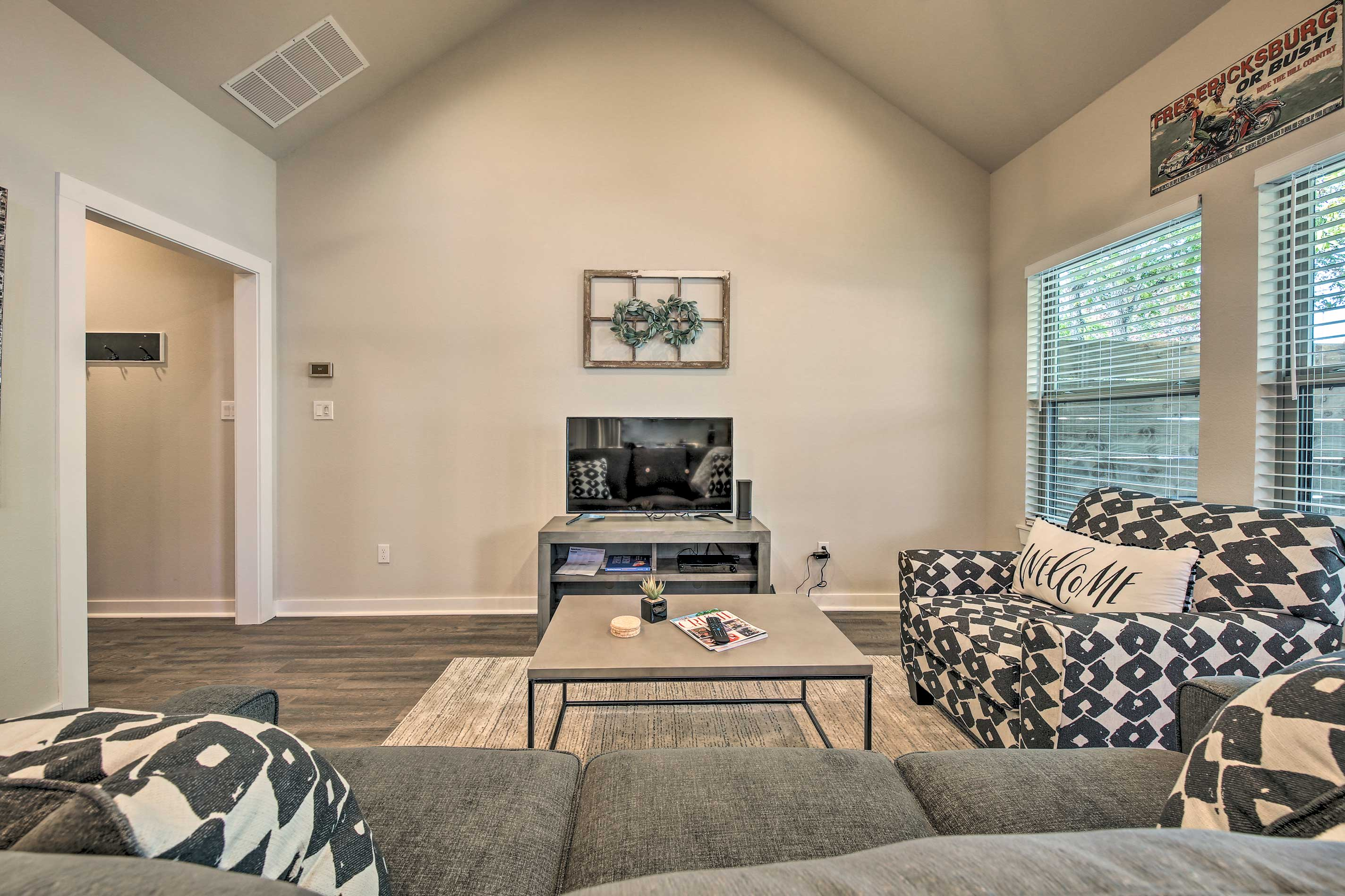 Make yourself at home in this warm and welcoming living area.