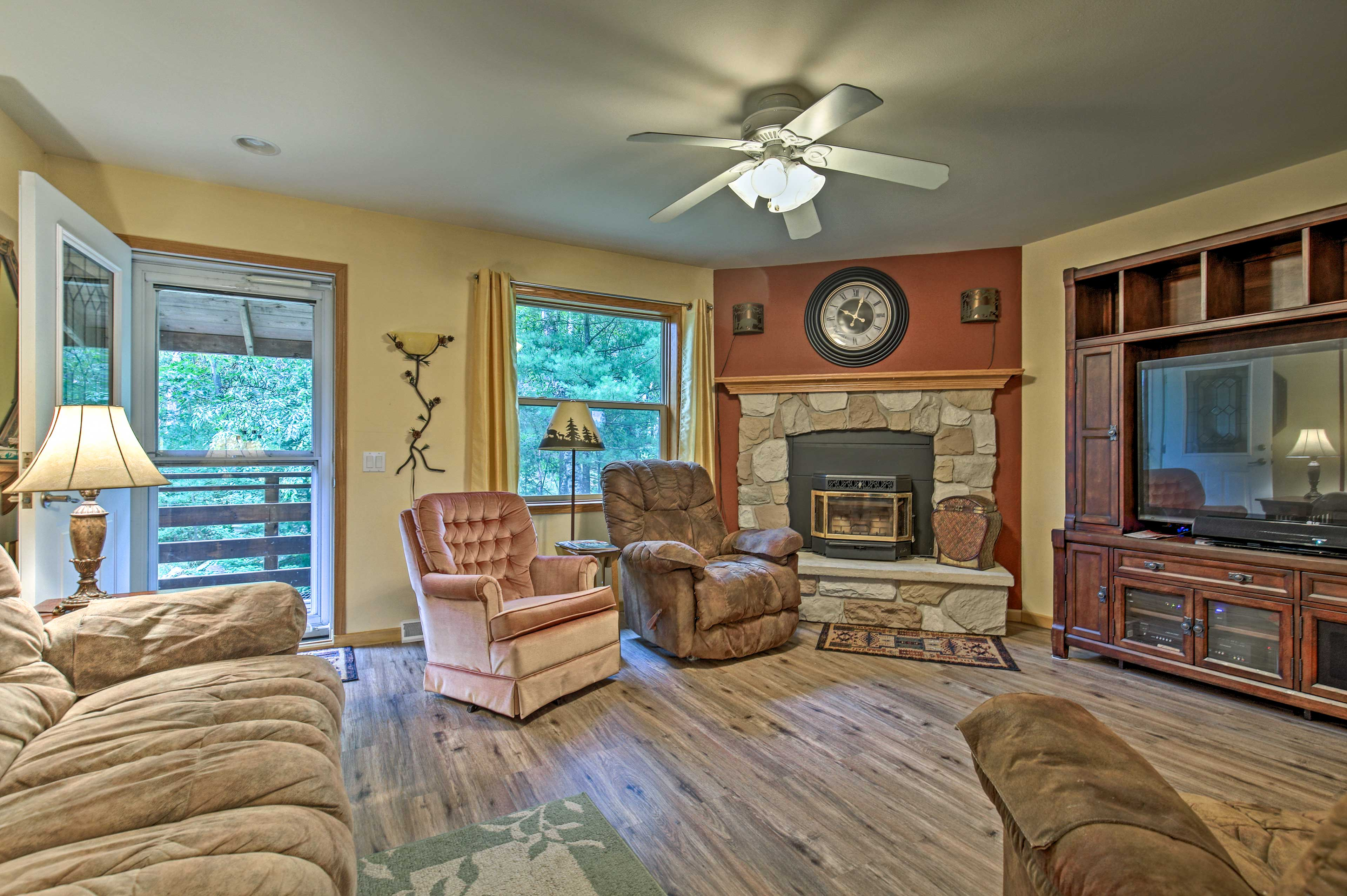 The living room has plenty of space to relax.