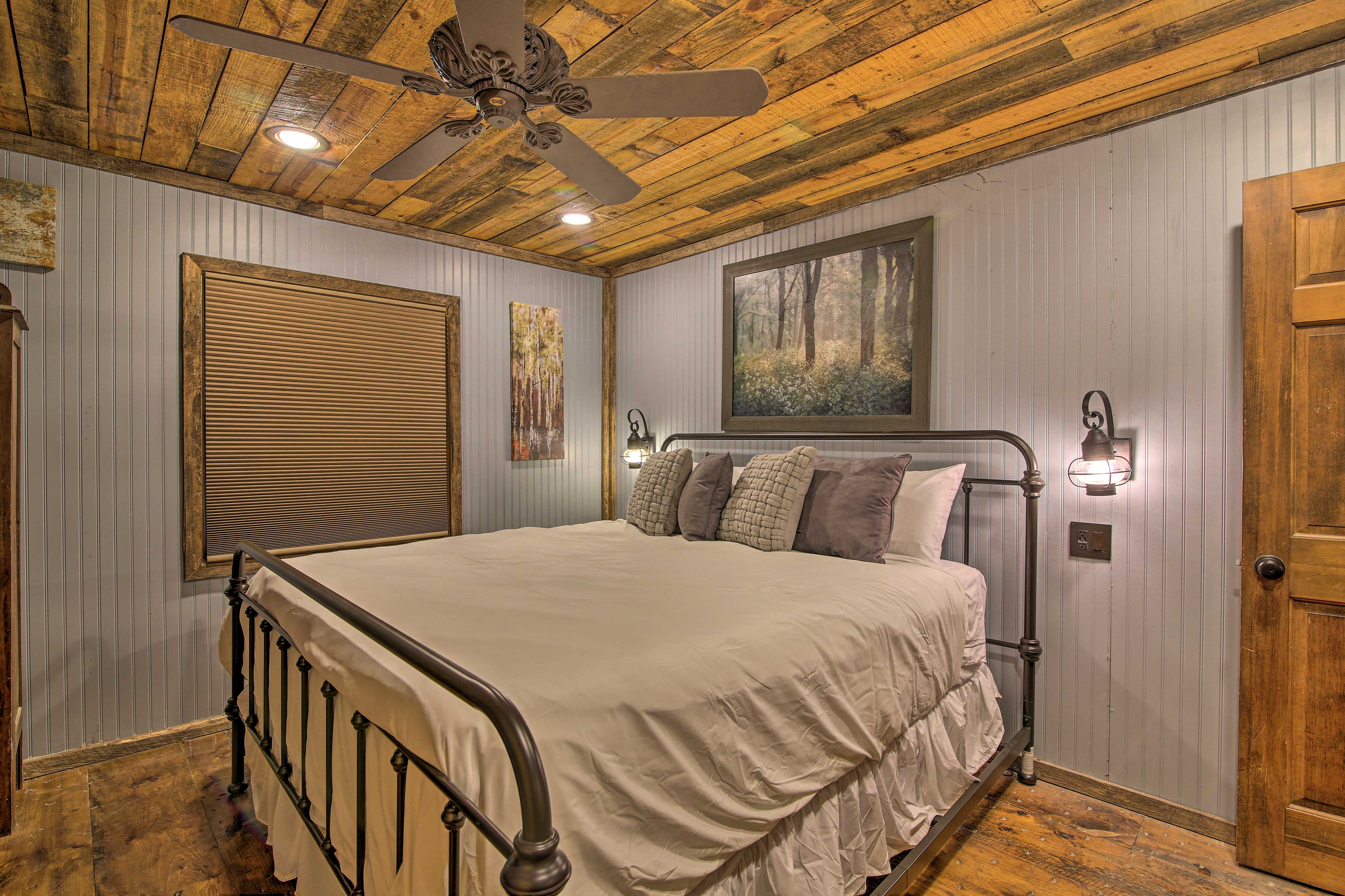 Rest easy each night in the large king bed in the master bedroom.