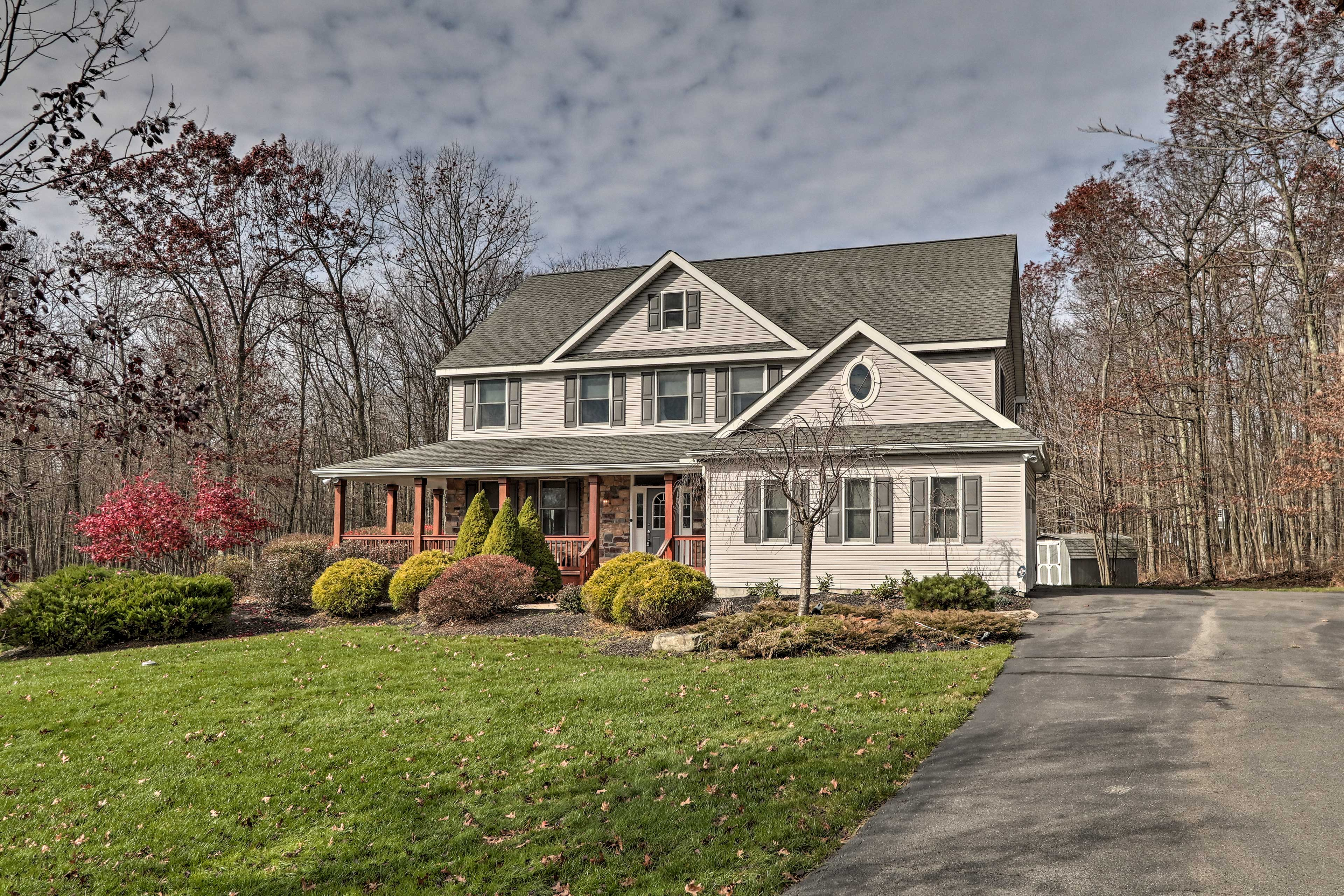 This Long Pond vacation rental home awaits your stay.