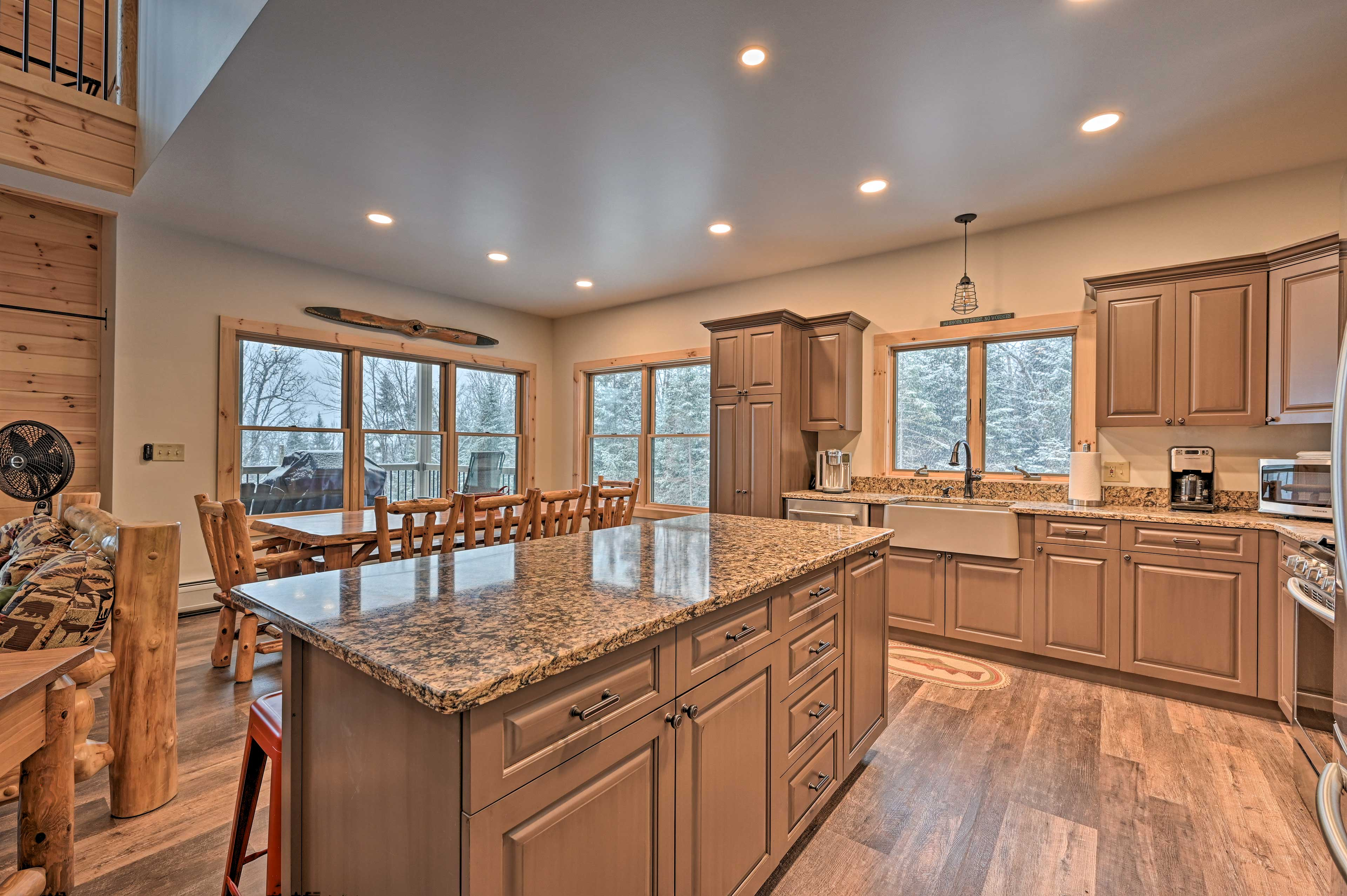 The kitchen is the perfect entertaining space.