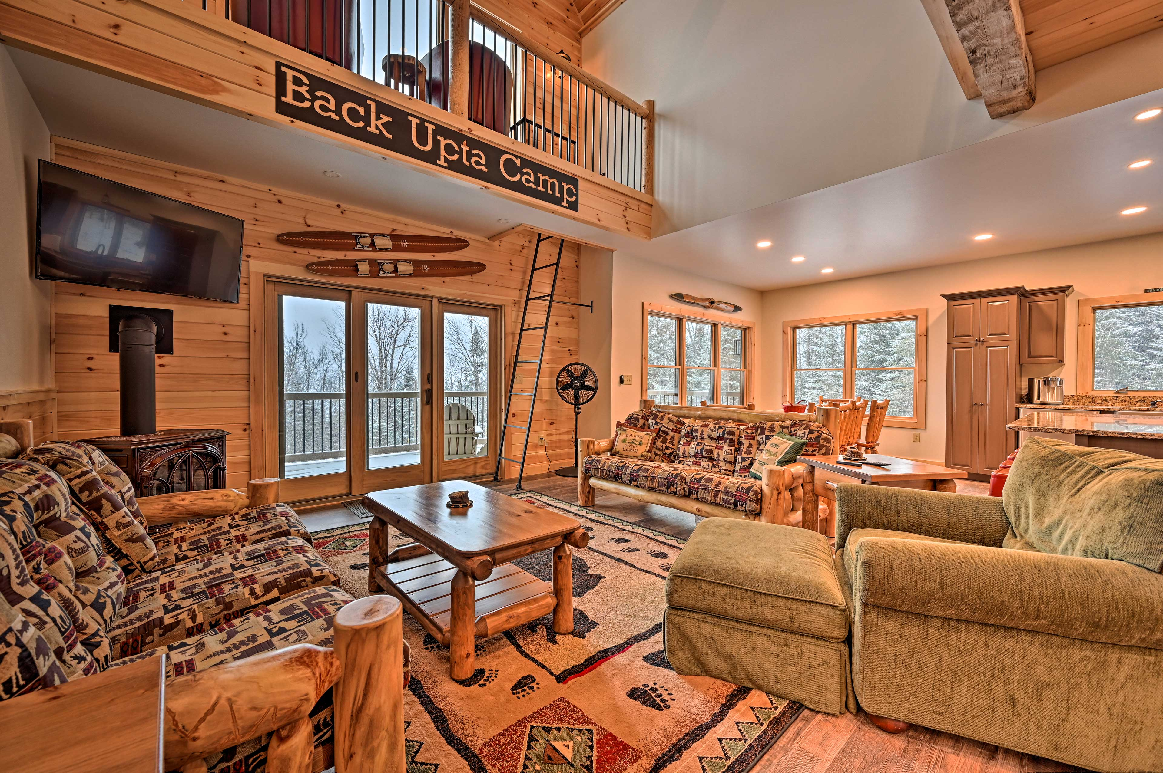 Book a stay at 'Back Upta Camp' for a cozy retreat to Pittsburg.