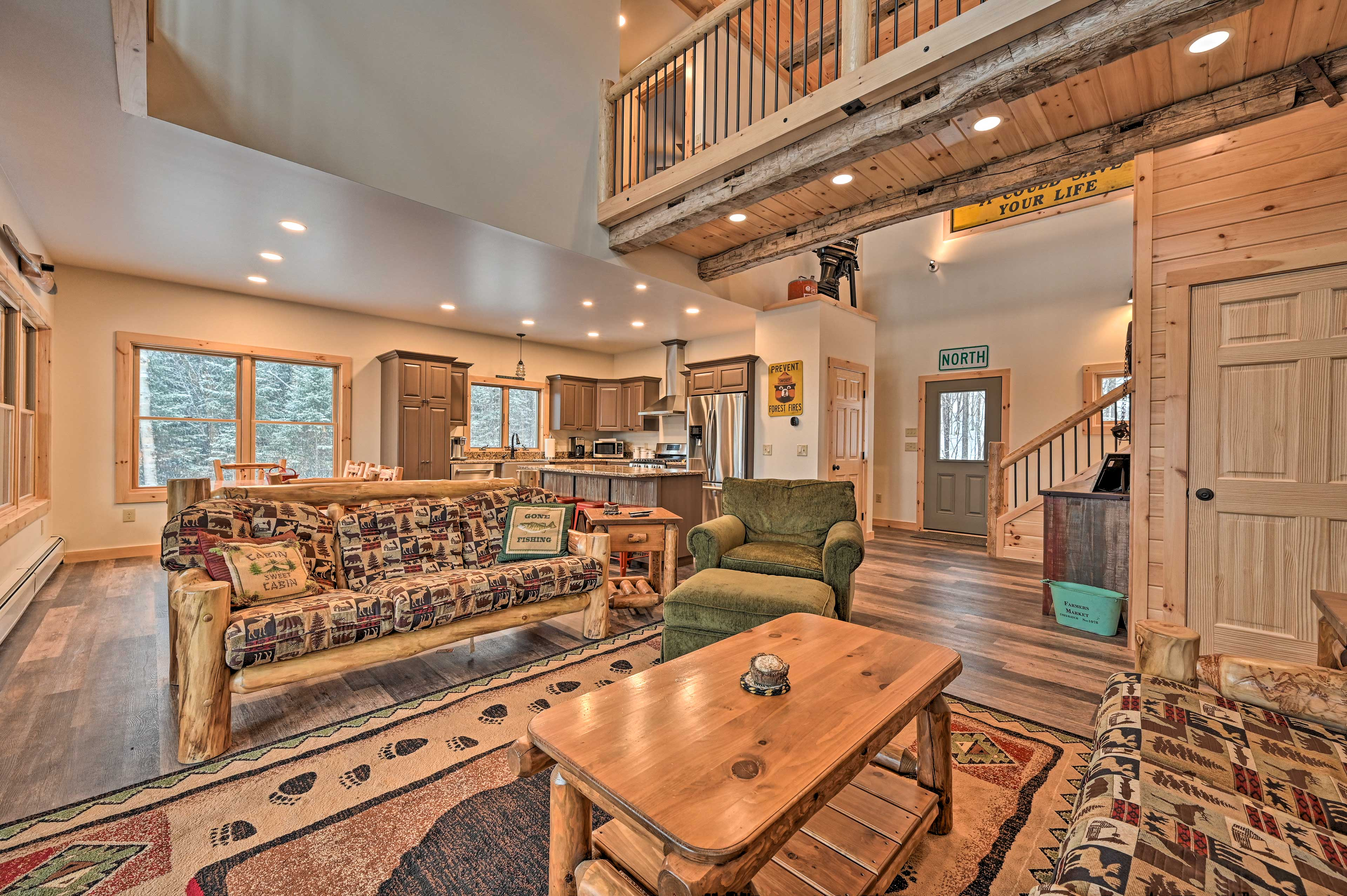 This 4-bedroom, 2.5-bathroom home is perfect for 10 guests.