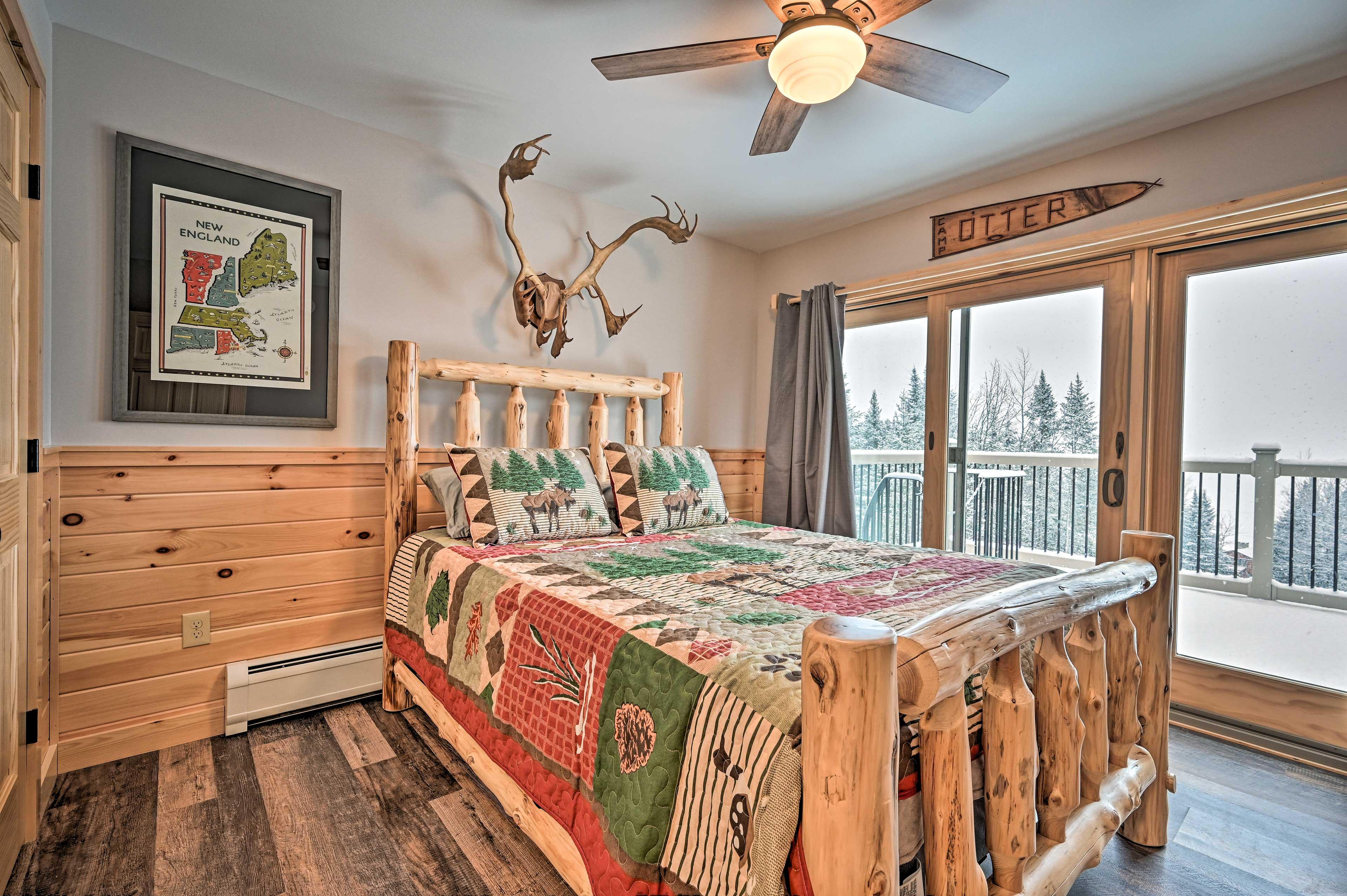 The last bedroom has a queen bed.