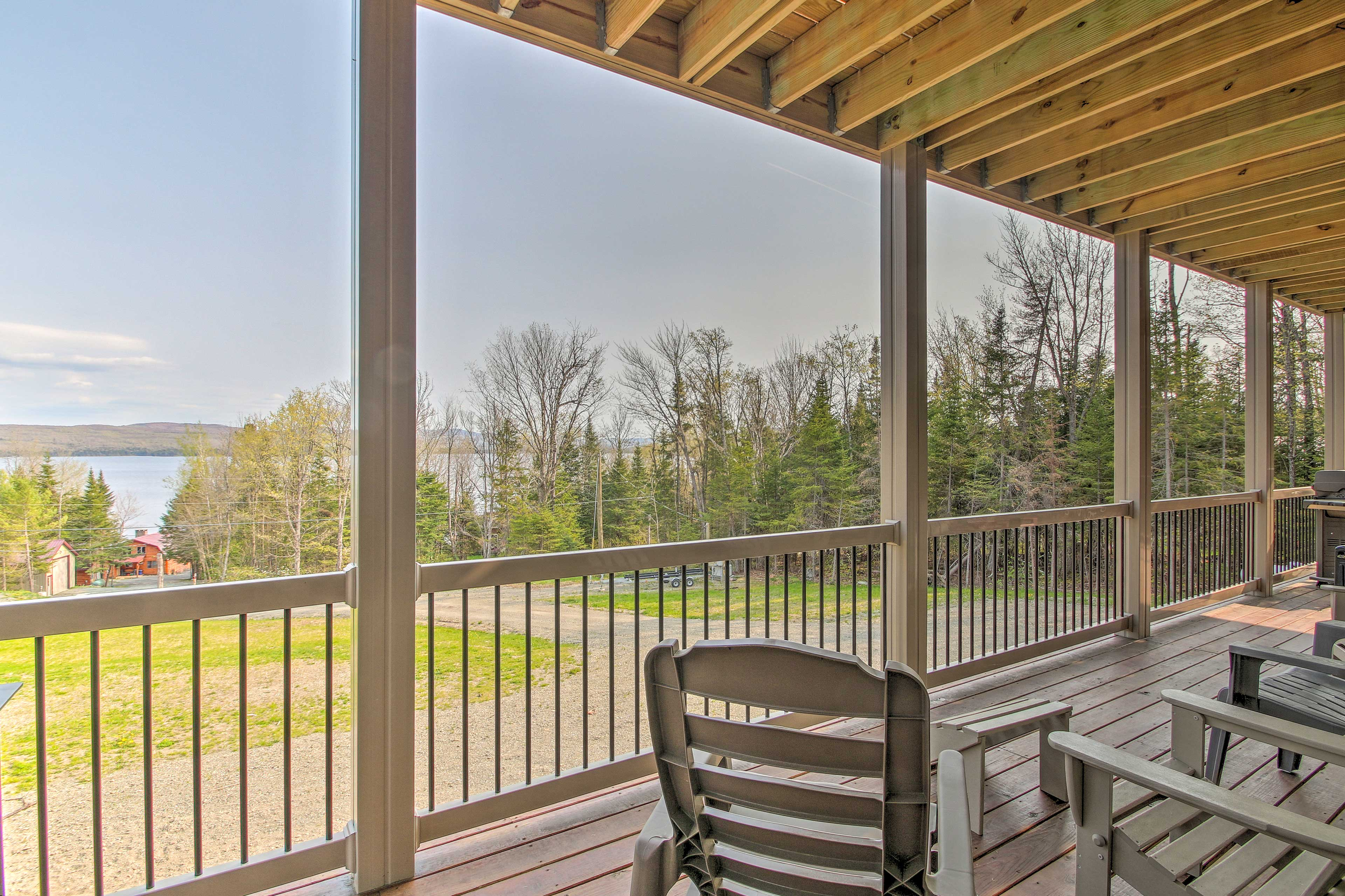 Check out the view from the private deck.