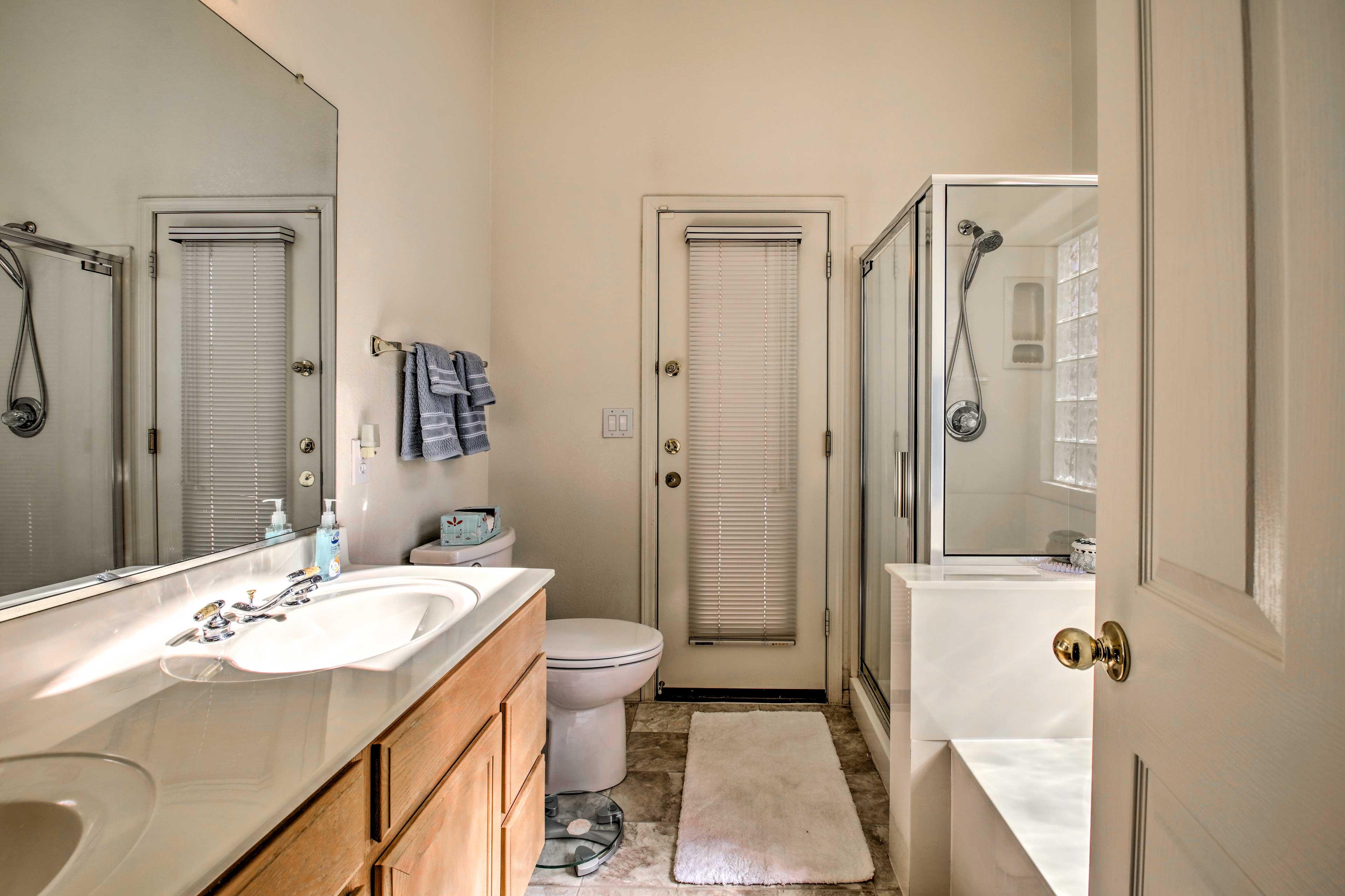 Take advantage of the spacious en-suite bathroom.