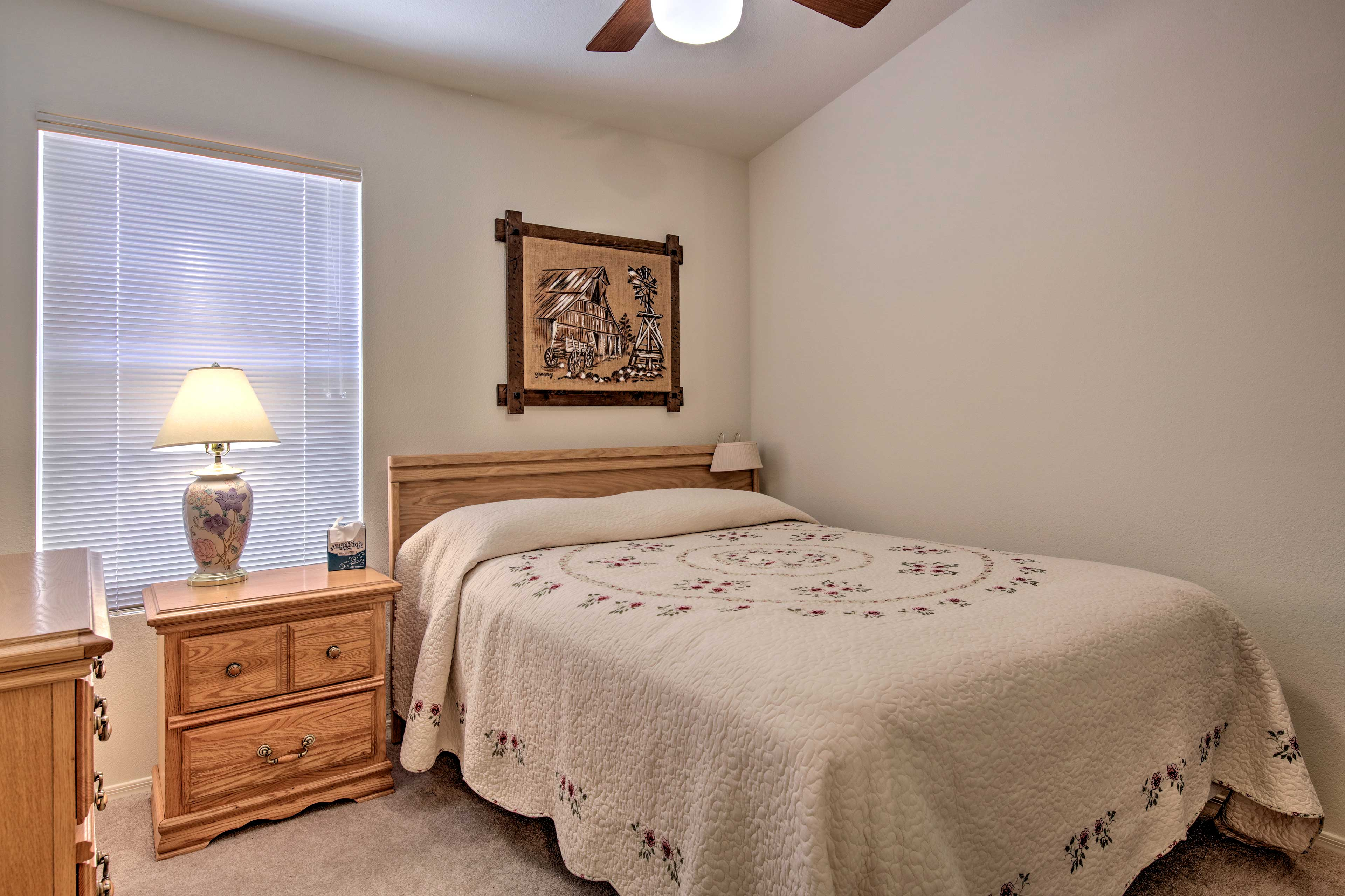Bedroom 2 features a queen bed as well.