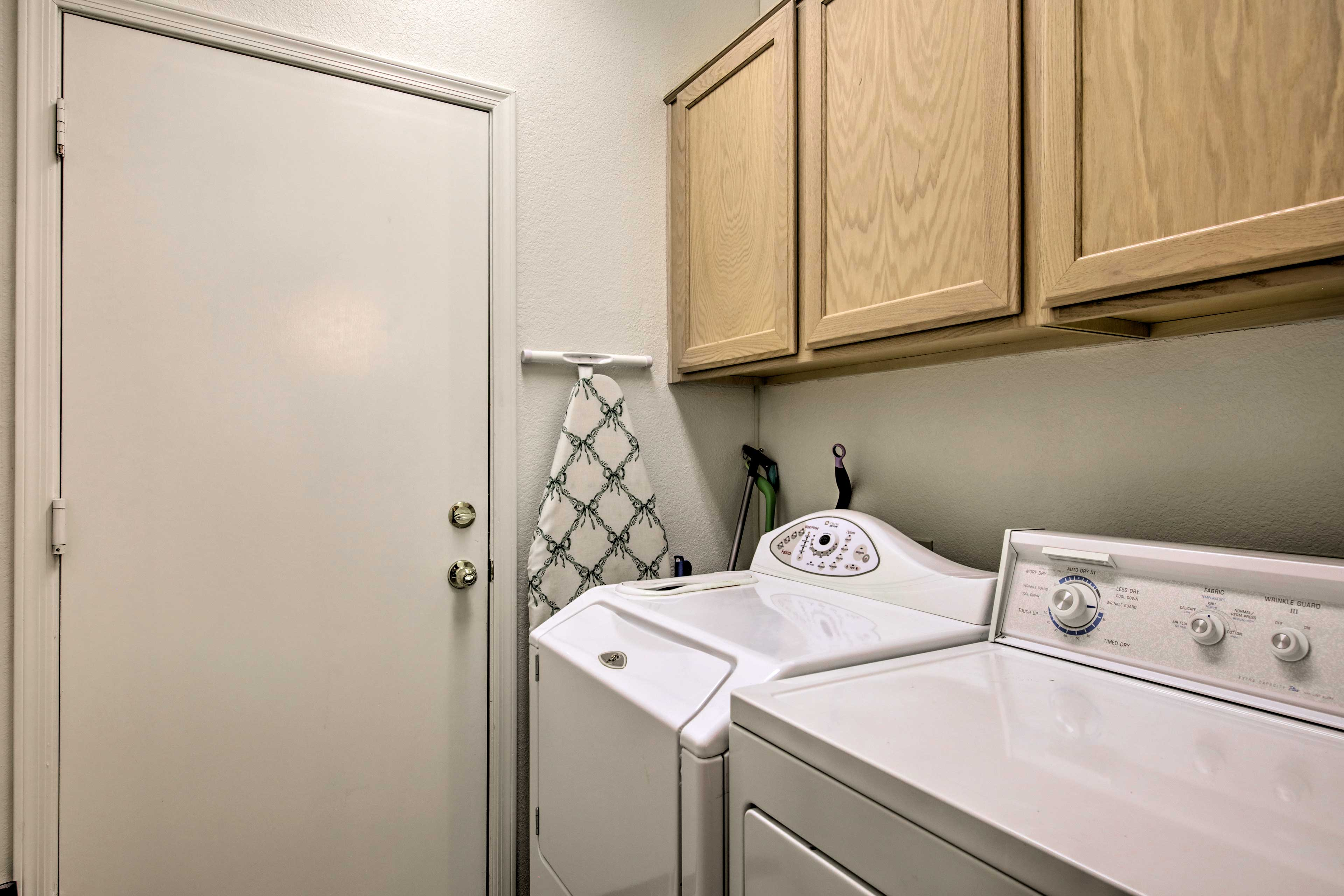 This vacation rental features a washer and dryer for your convenience.
