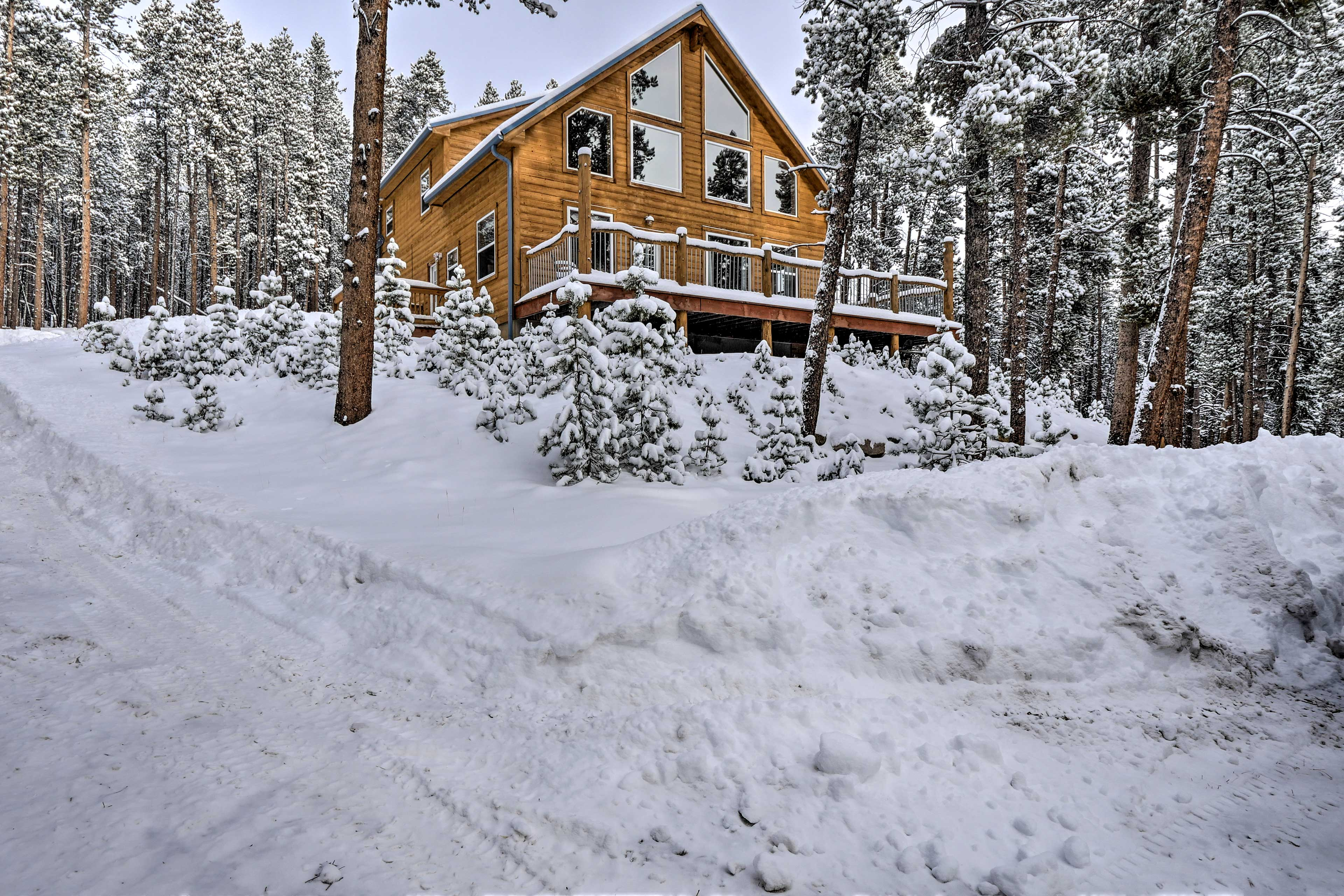 Enjoy the privacy of a log mountain cabin!