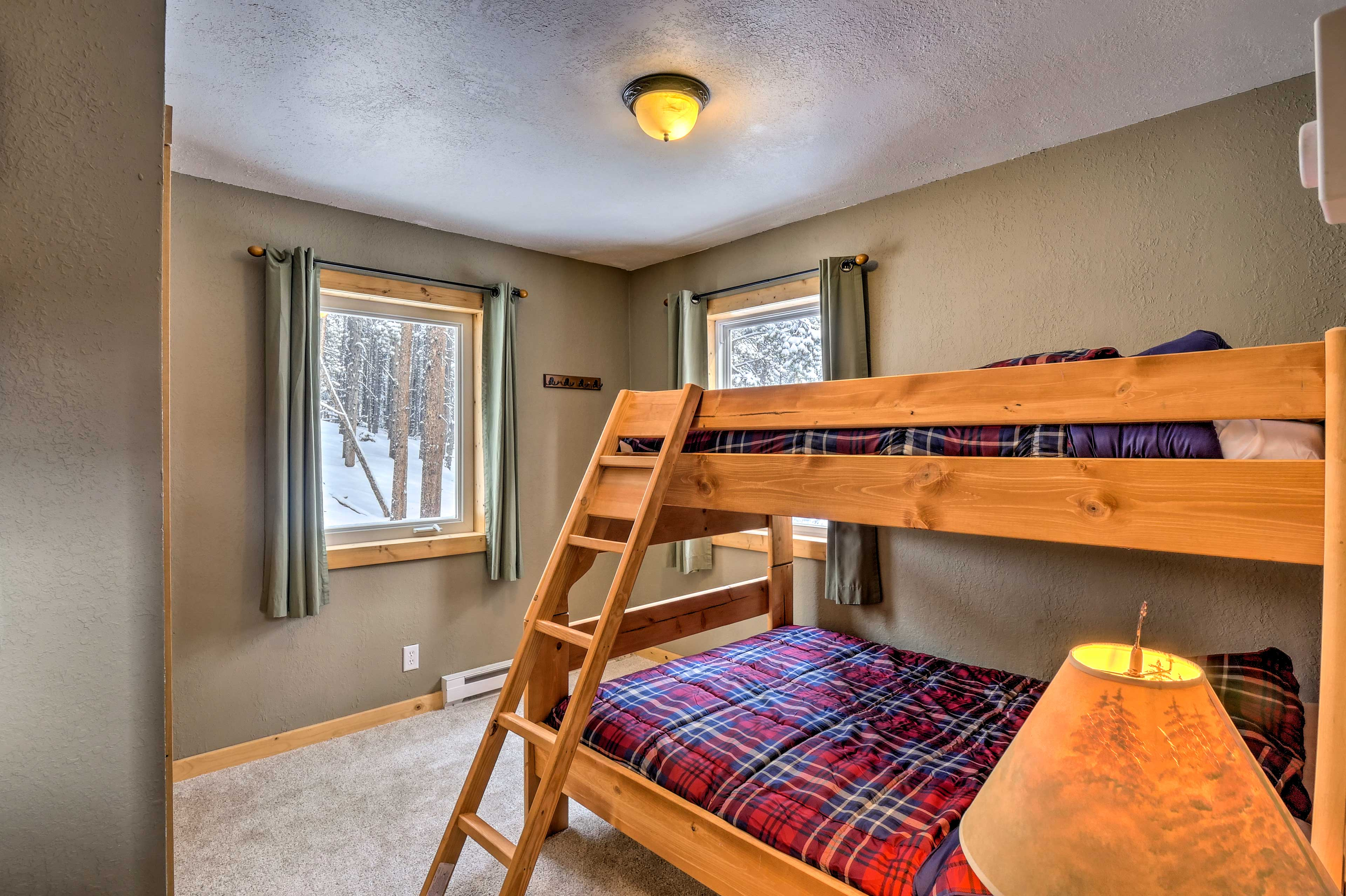 Kids will love the bunk room.