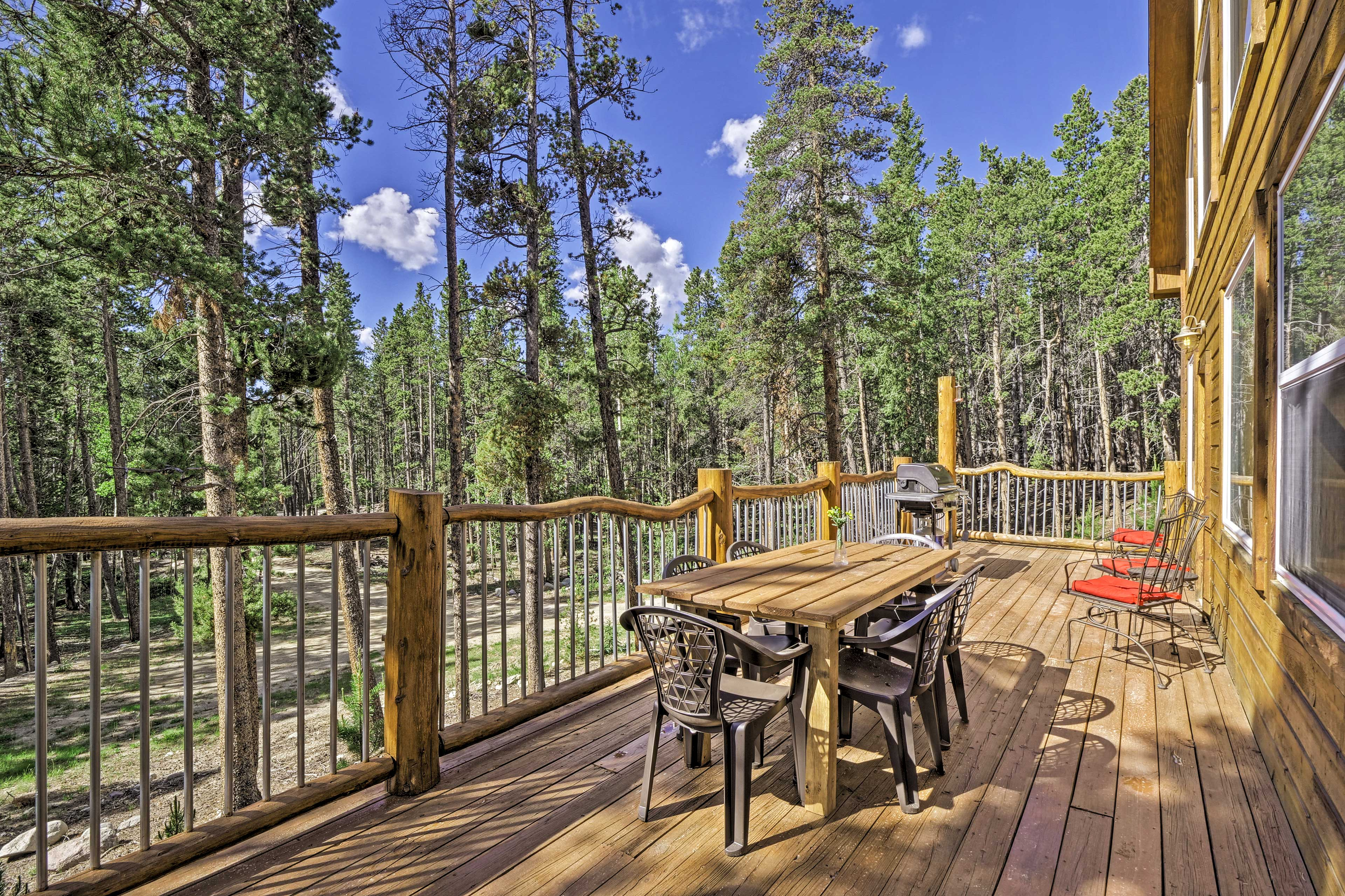 In the summer months, you may never want to leave the deck.