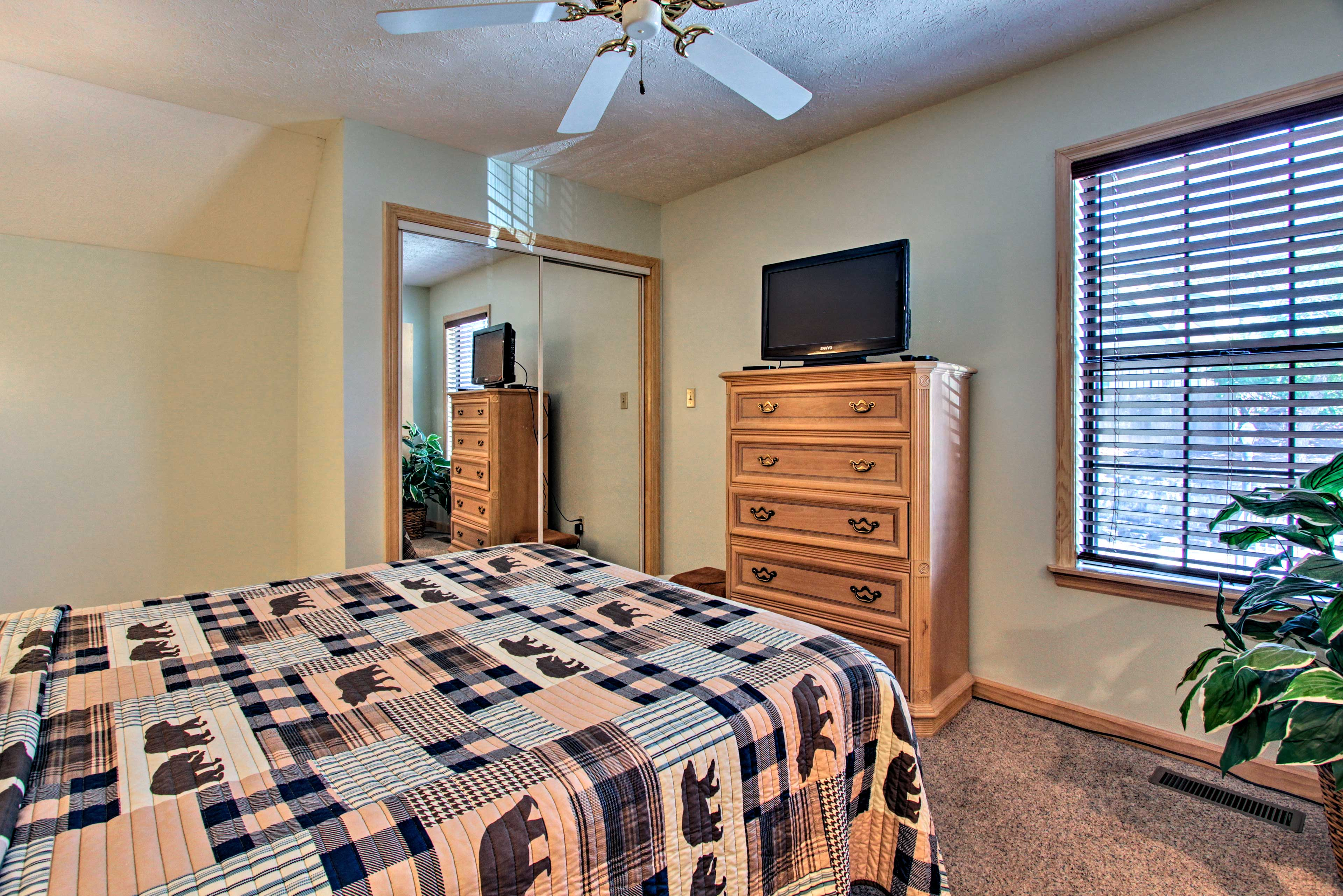 The second bedroom offers a queen bed for 2.