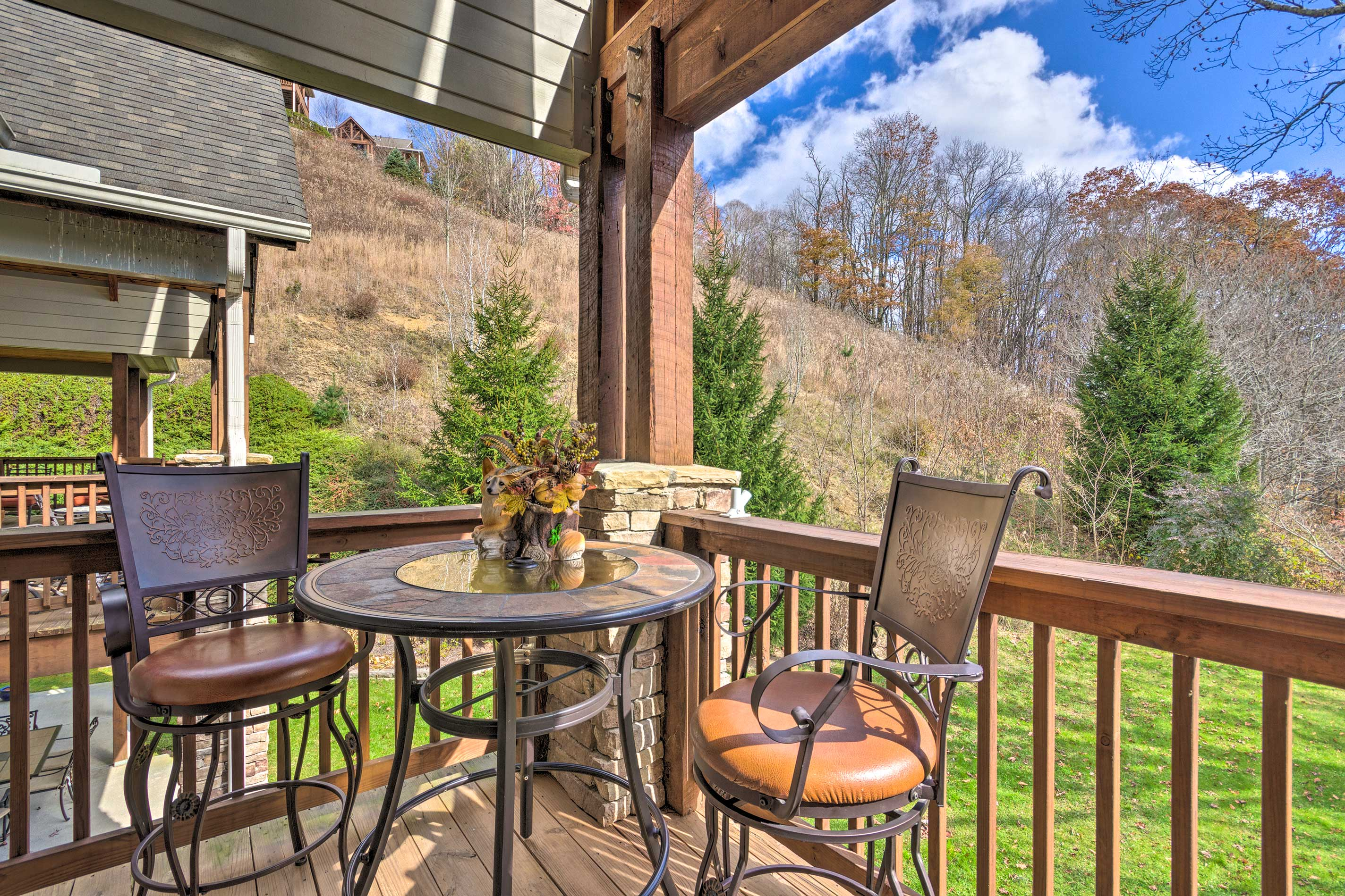 The condo is located within the The Lodges at Elkmont community.