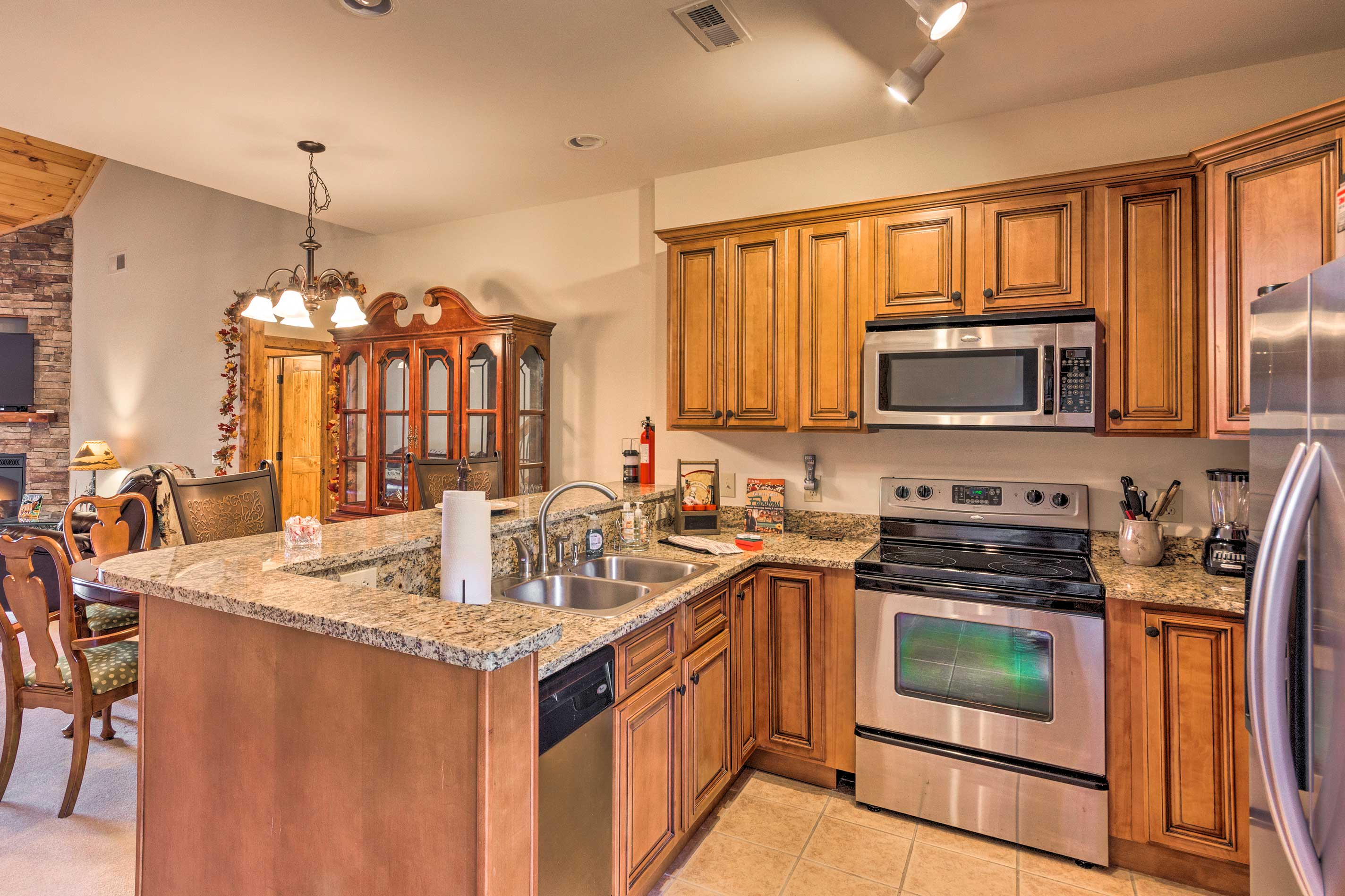 Fully equipped, this kitchen has everything you need to make all your favorites!