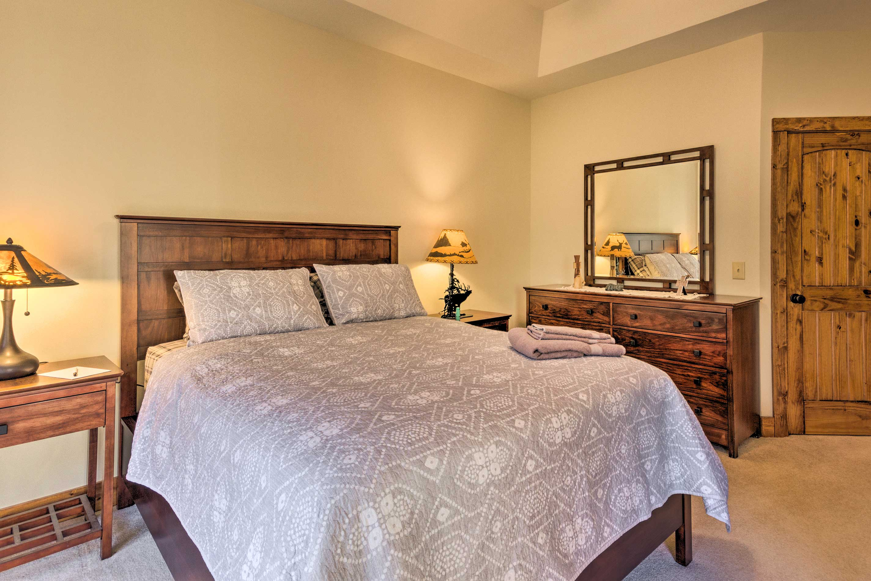 Two can share this spacious master suite.