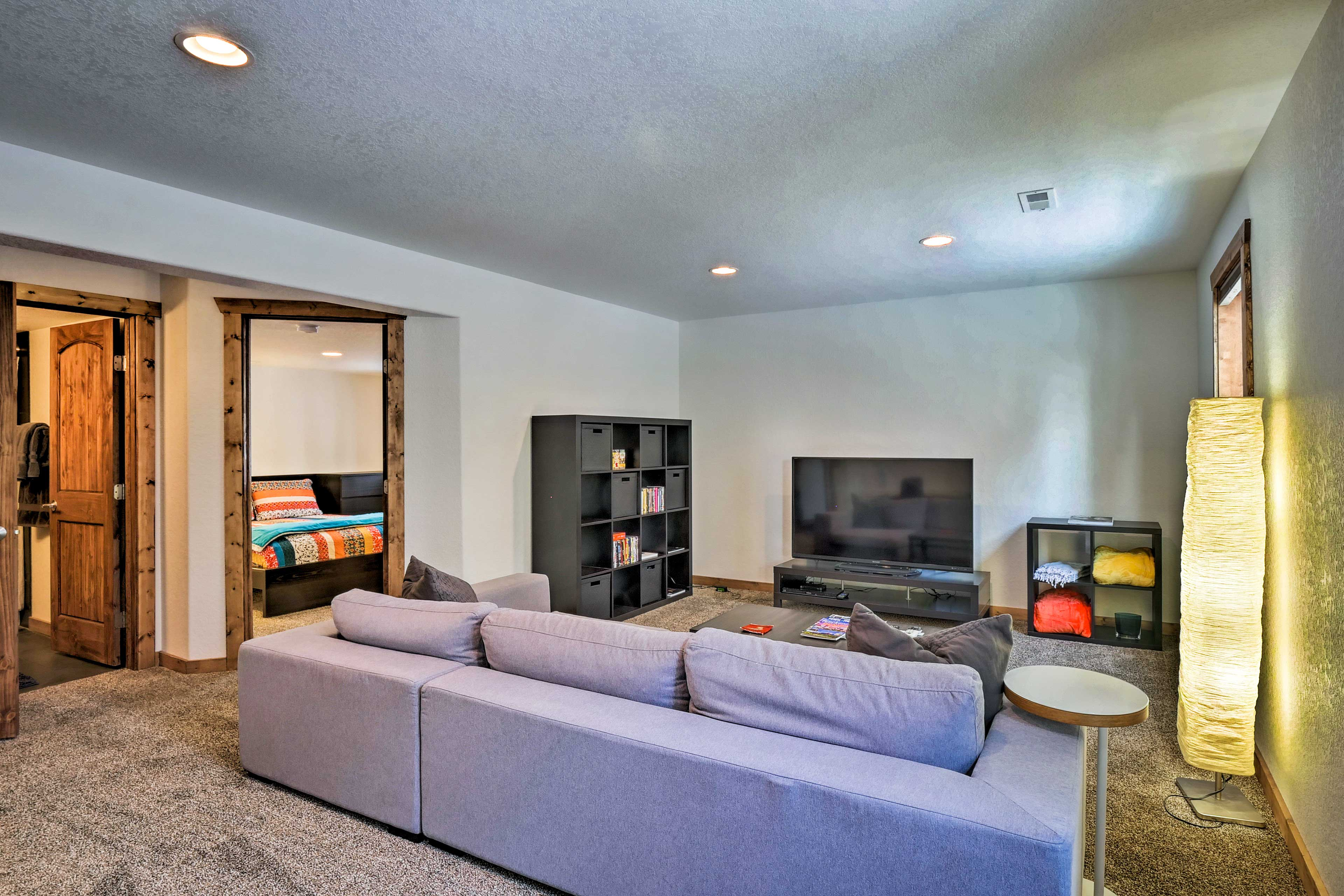 The ground floor has a spacious living room.