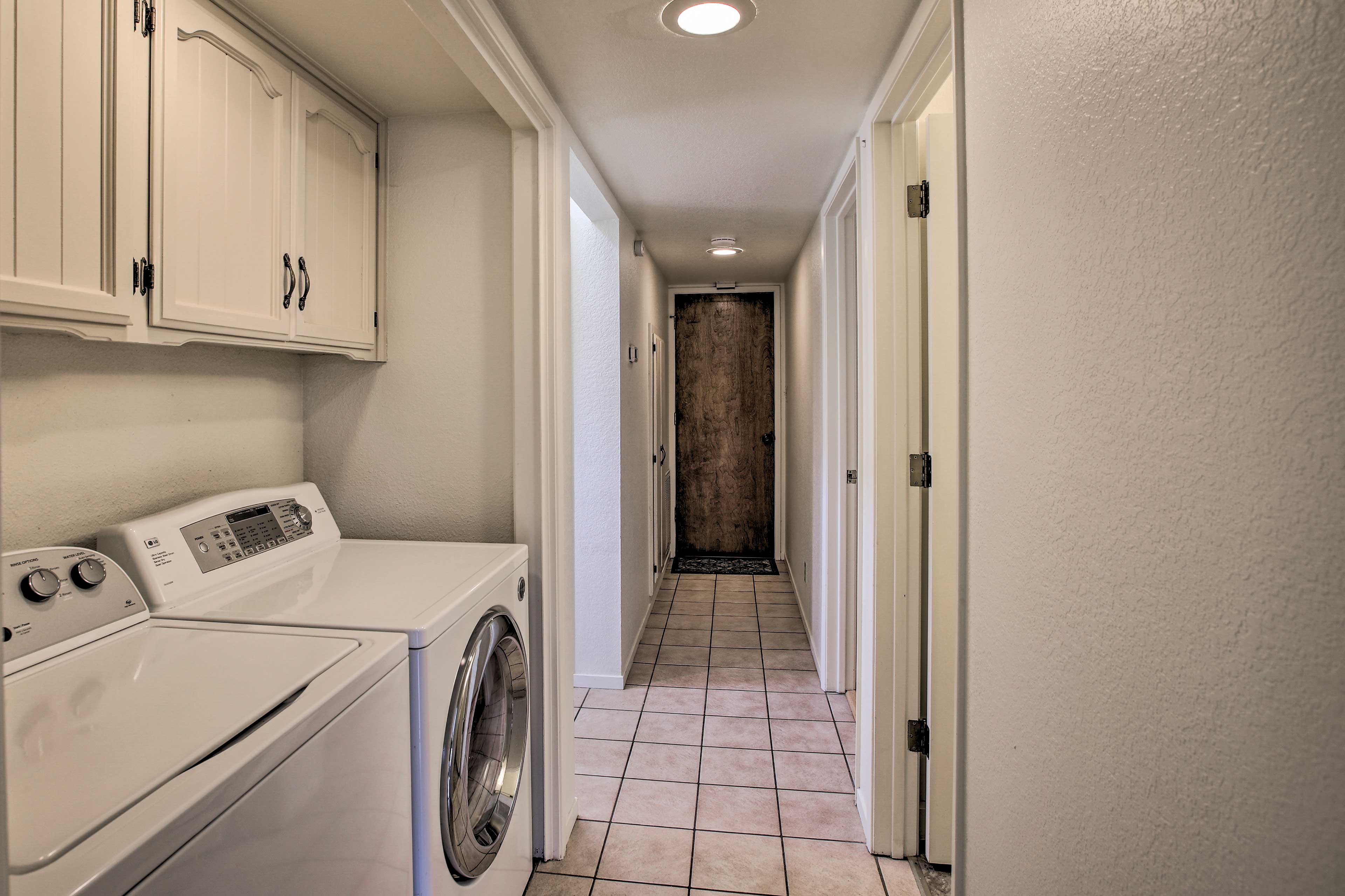 Keep you wardrobe clean and fresh with the home's laundry machines.