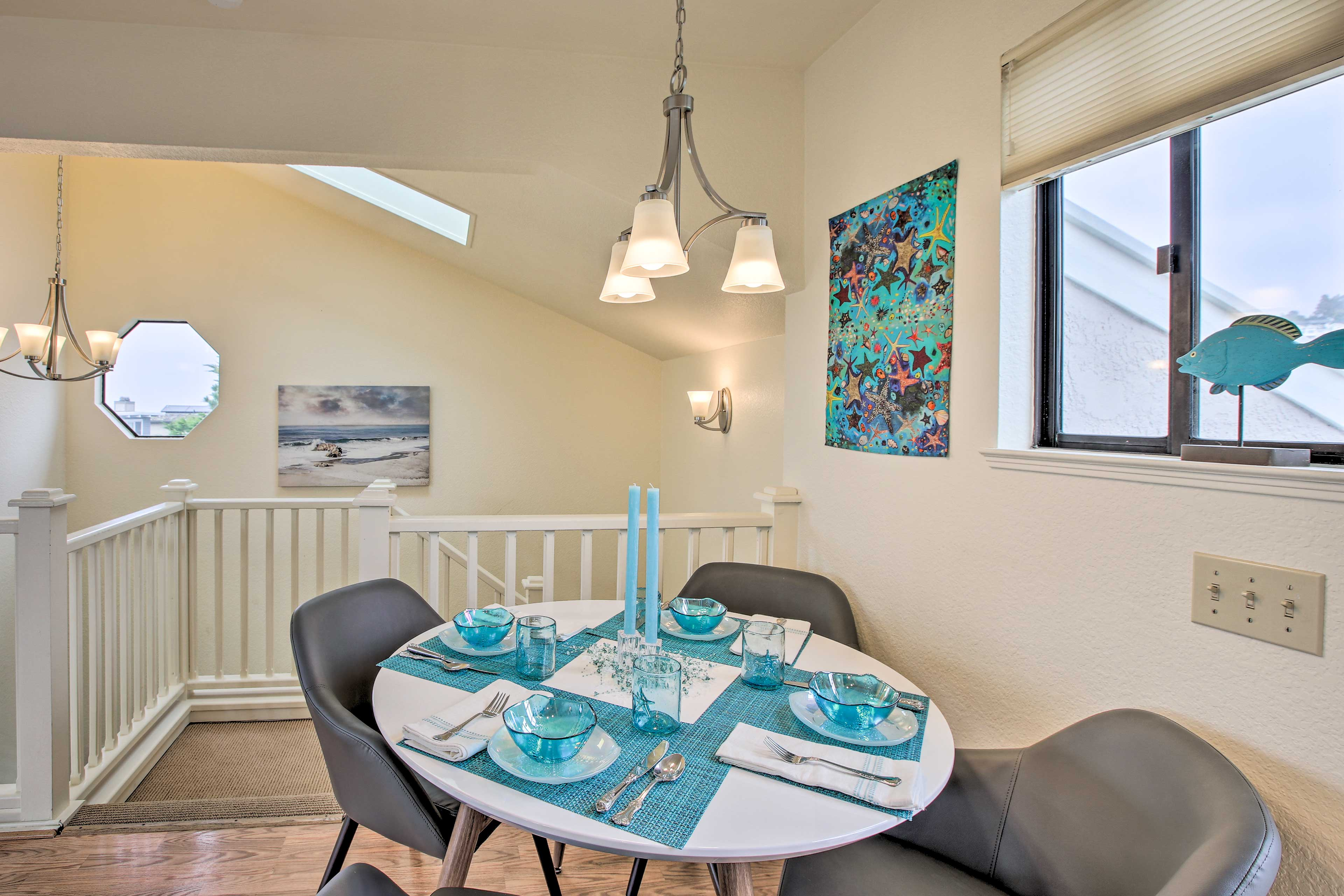 Enjoy home-cooked meals around the formal dining table.