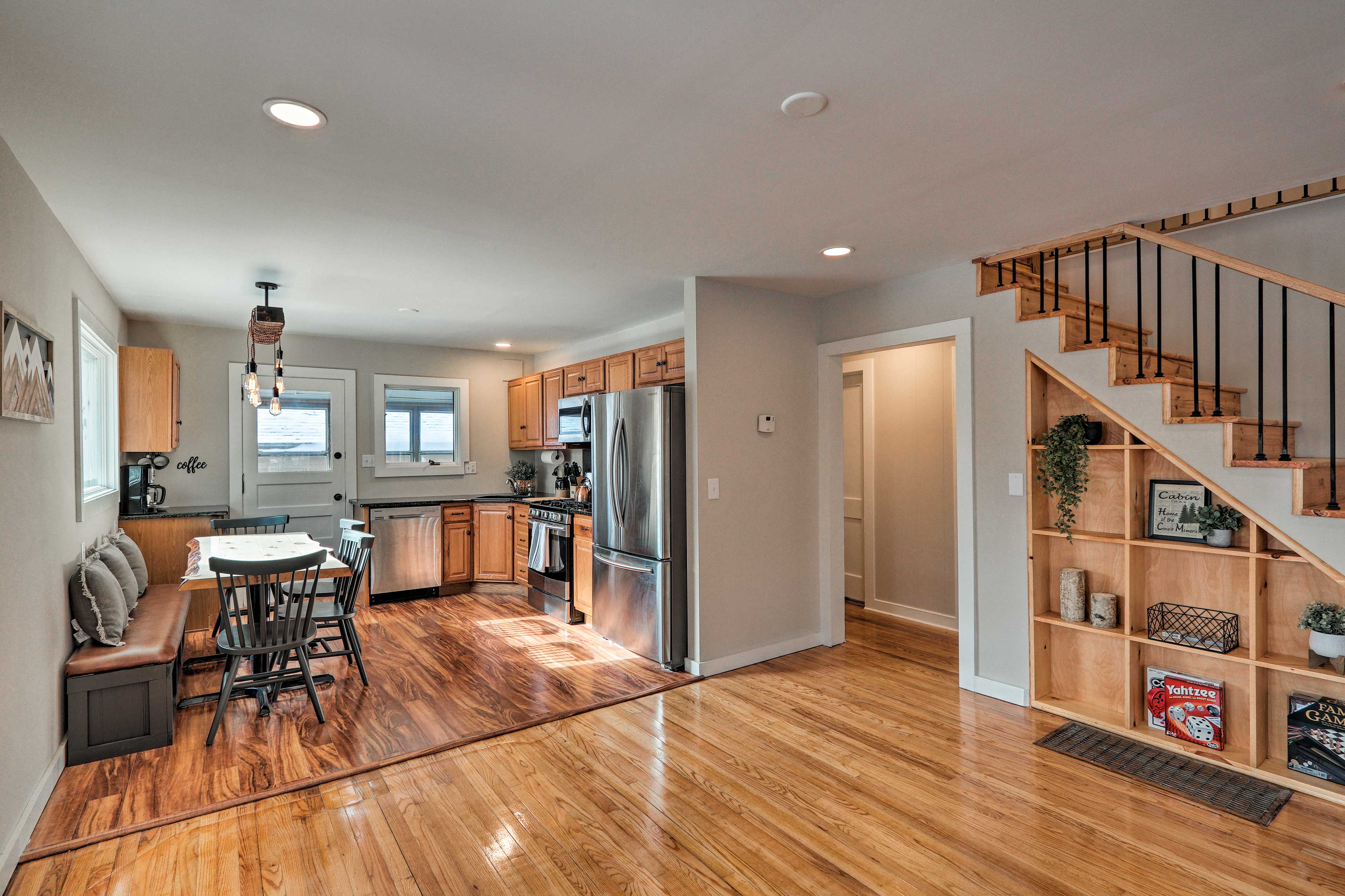 The spacious layout offers plenty of room to spread out.
