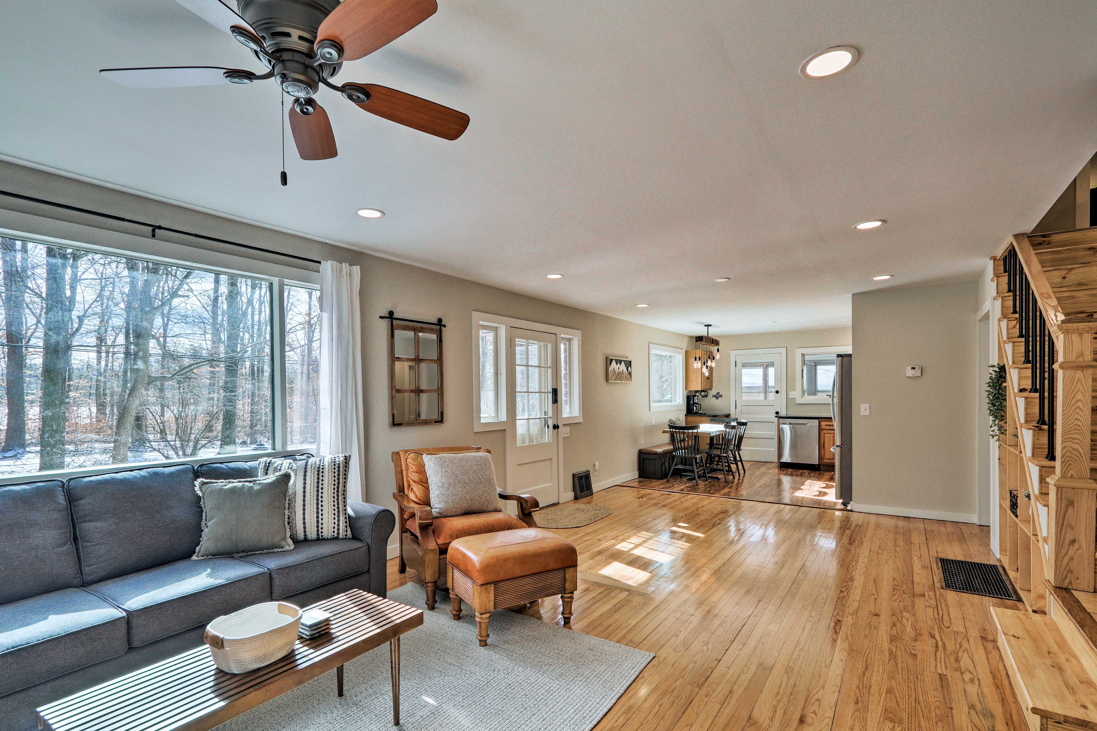 Keep cool using the ceiling fans throughout this home.