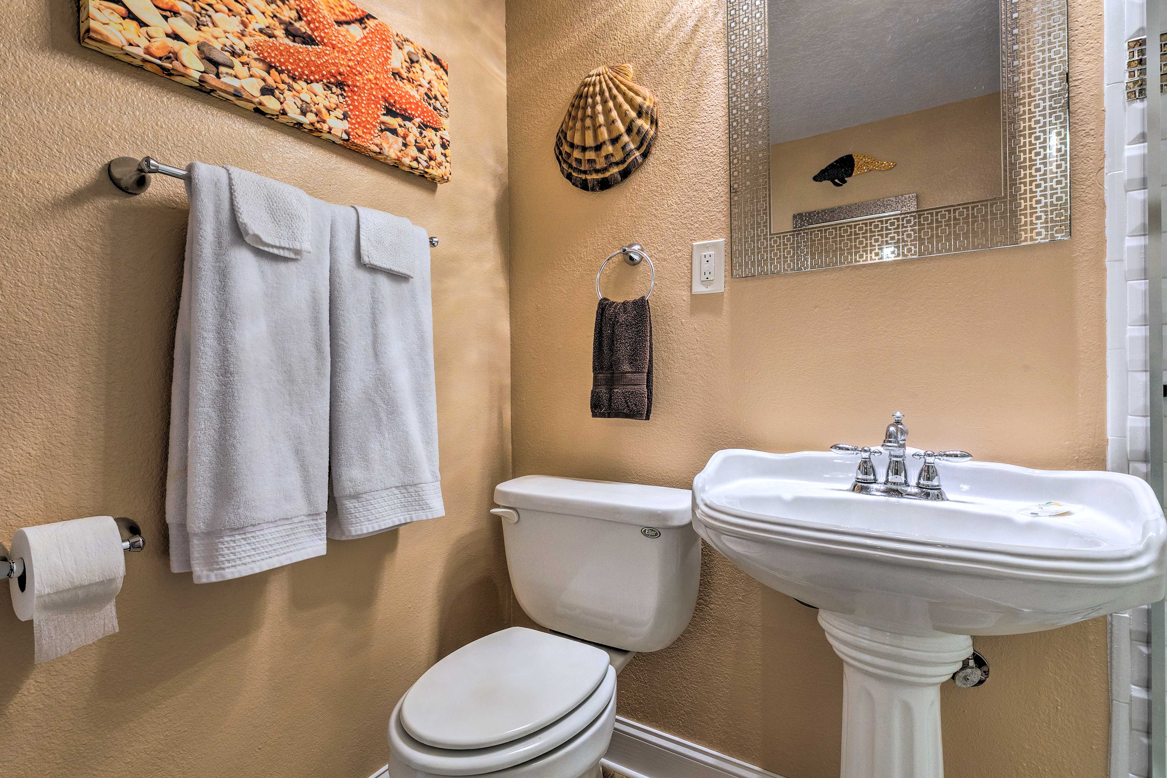 Two full bathrooms make getting ready a breeze.