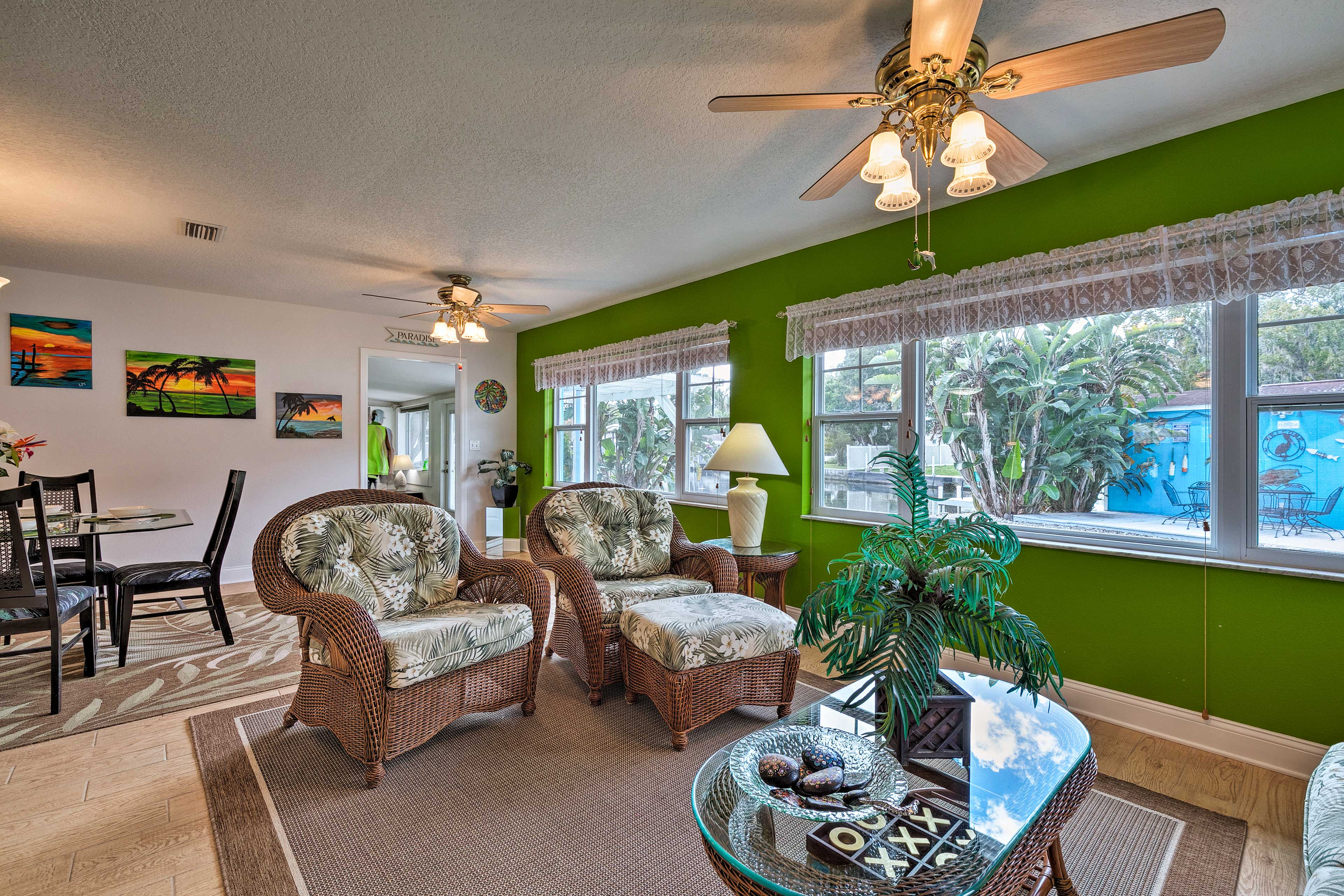 The bright interior is brimming with life!