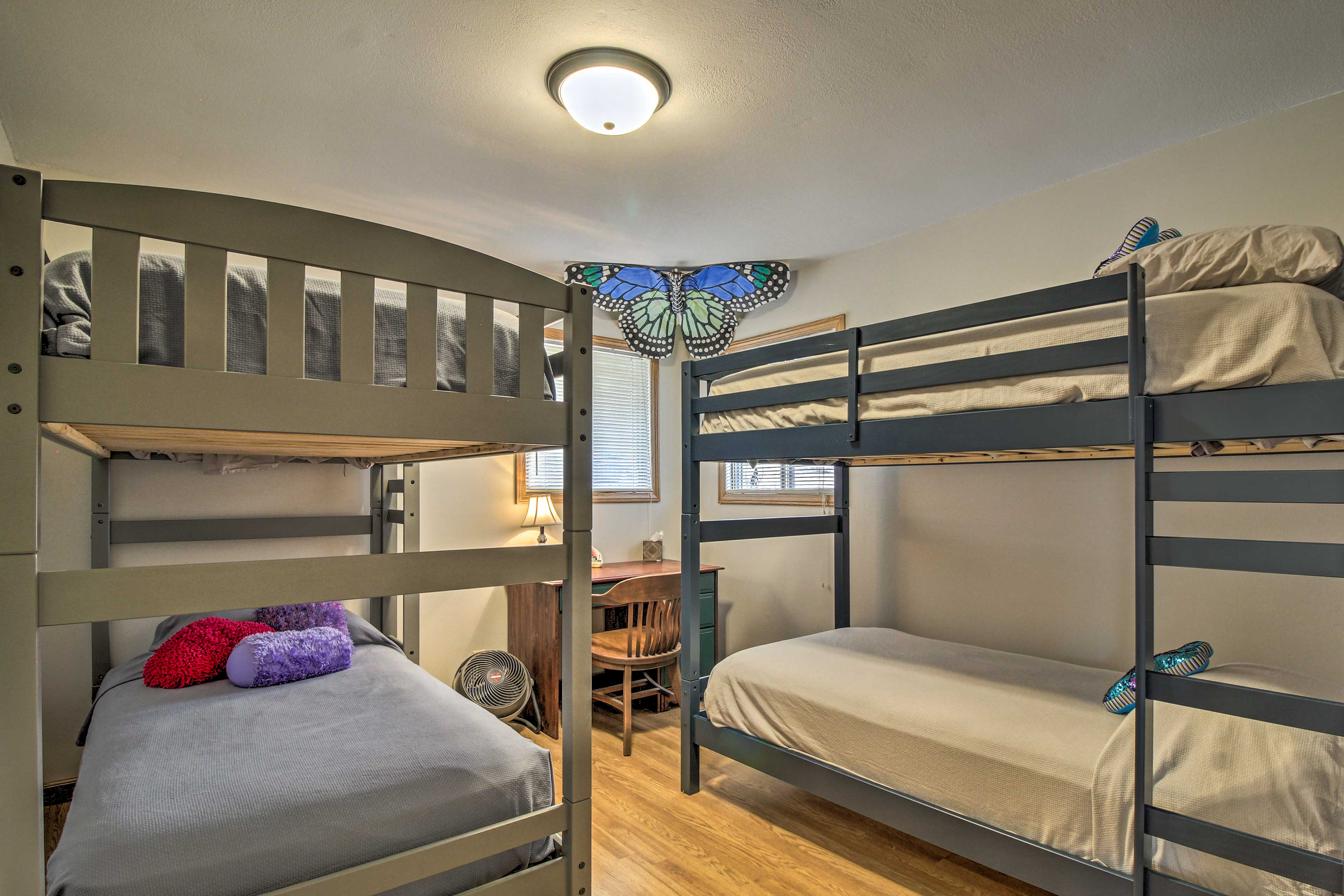 This room is perfect for siblings or friends sharing a space.