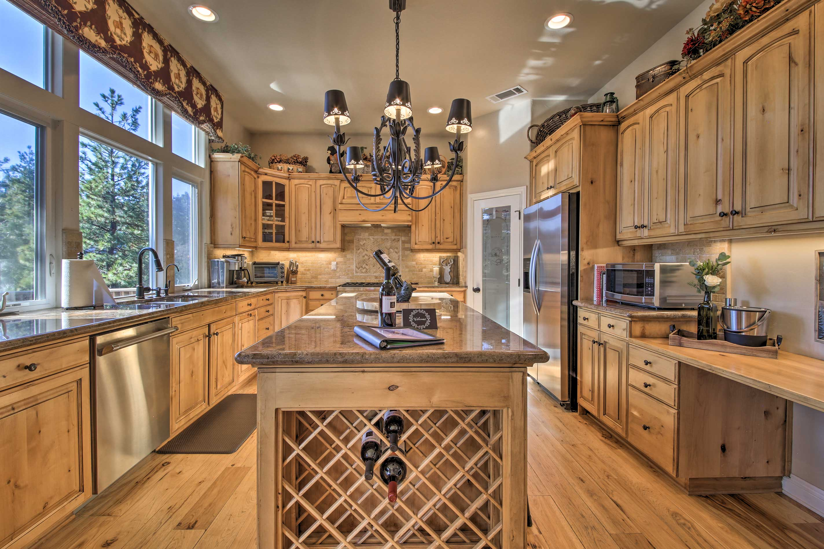From stainless steel appliances to granite counters, the kitchen is complete!