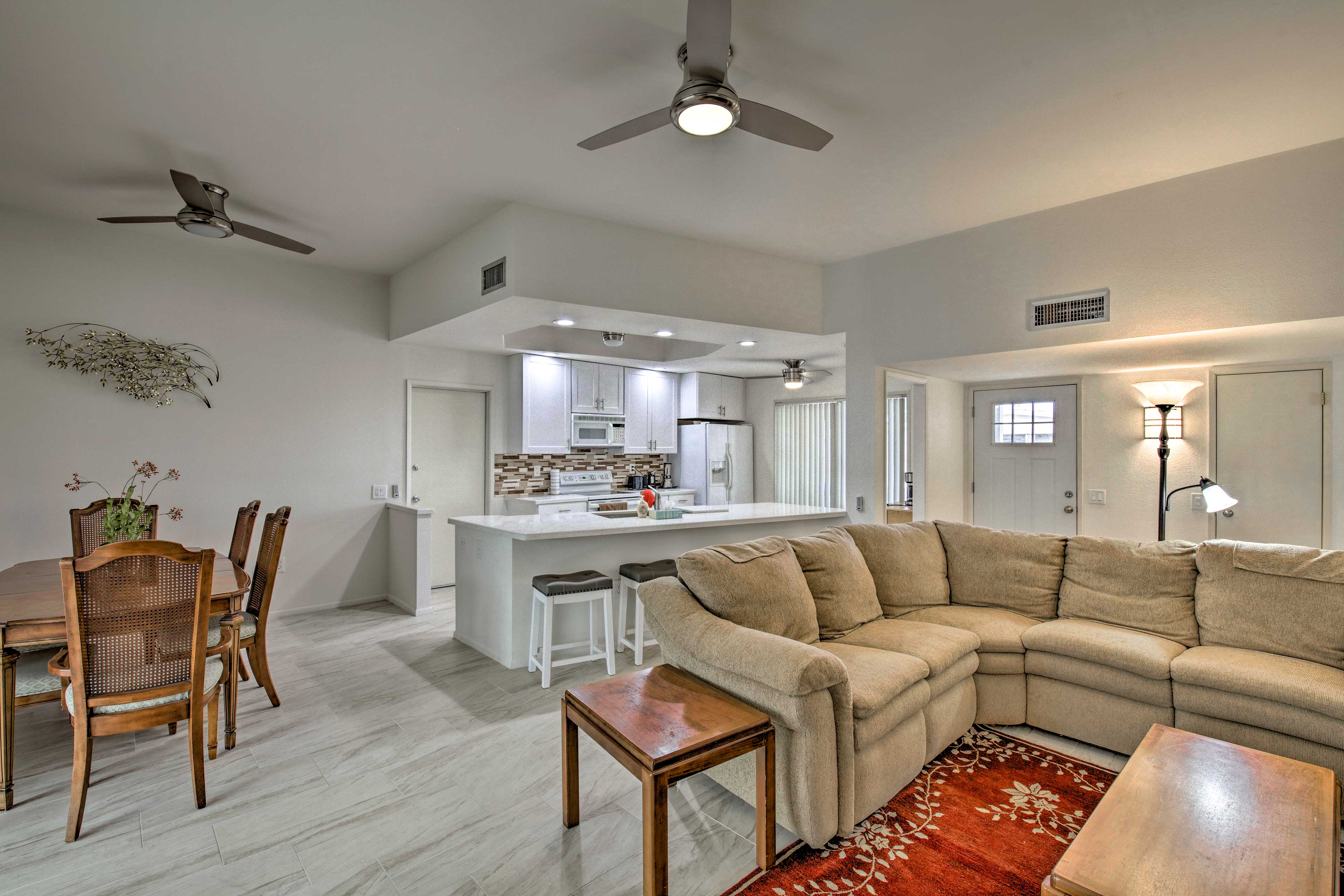 The open floor plan allows your group to spread out comfortably.