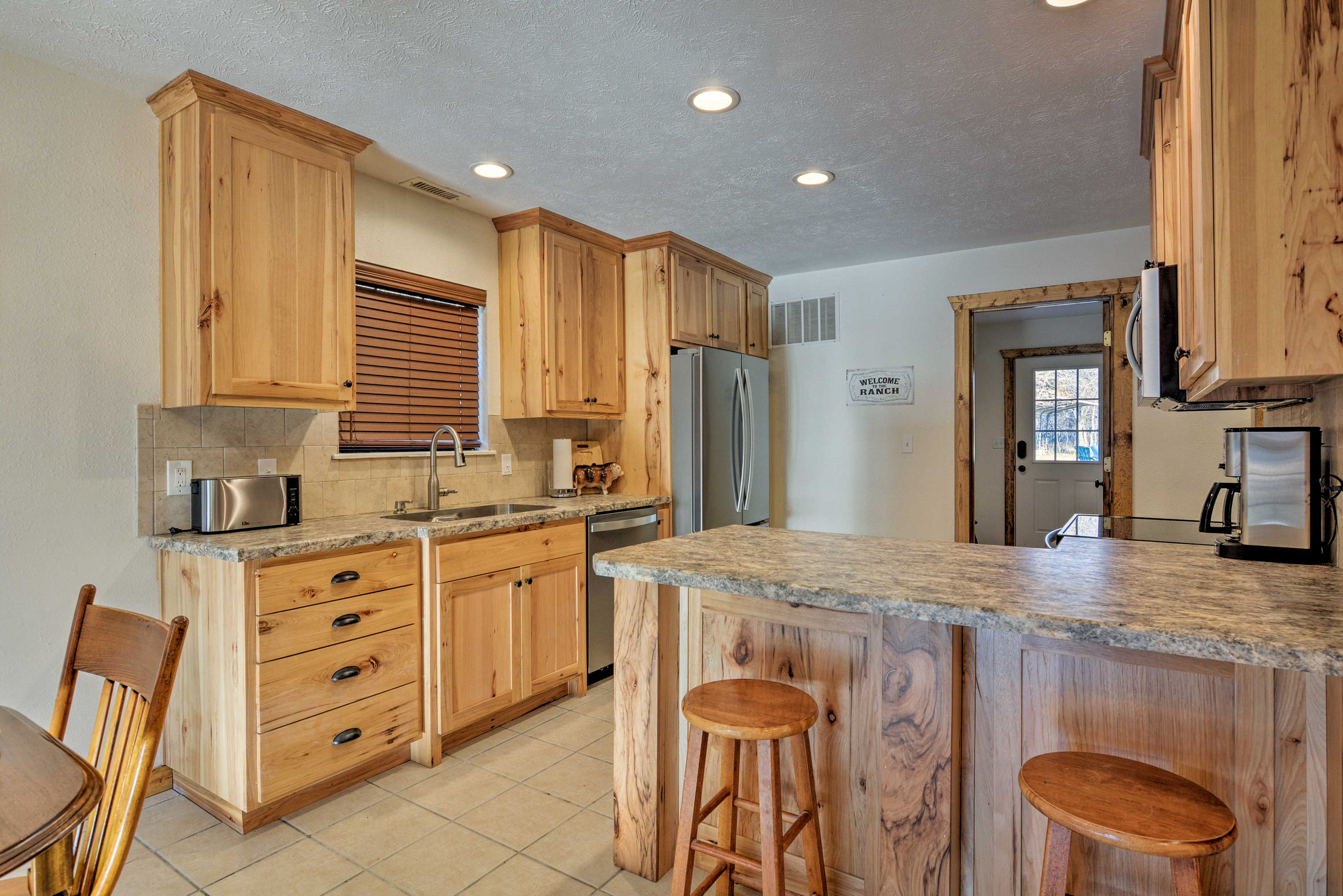 Channel your inner chef in the fully equipped kitchen.